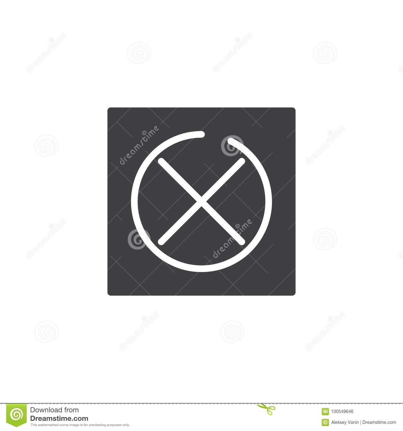 Do Not Tumble Dry Icon Vector Stock Vector Illustration Of Symbol