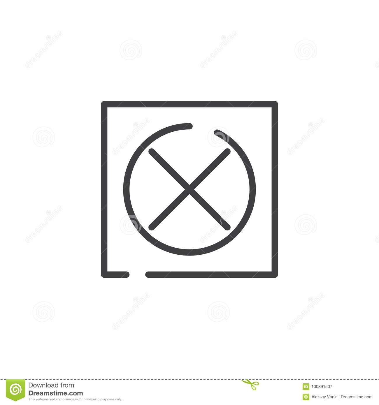 Do Not Tumble Dry Line Icon Stock Vector Illustration Of Simple