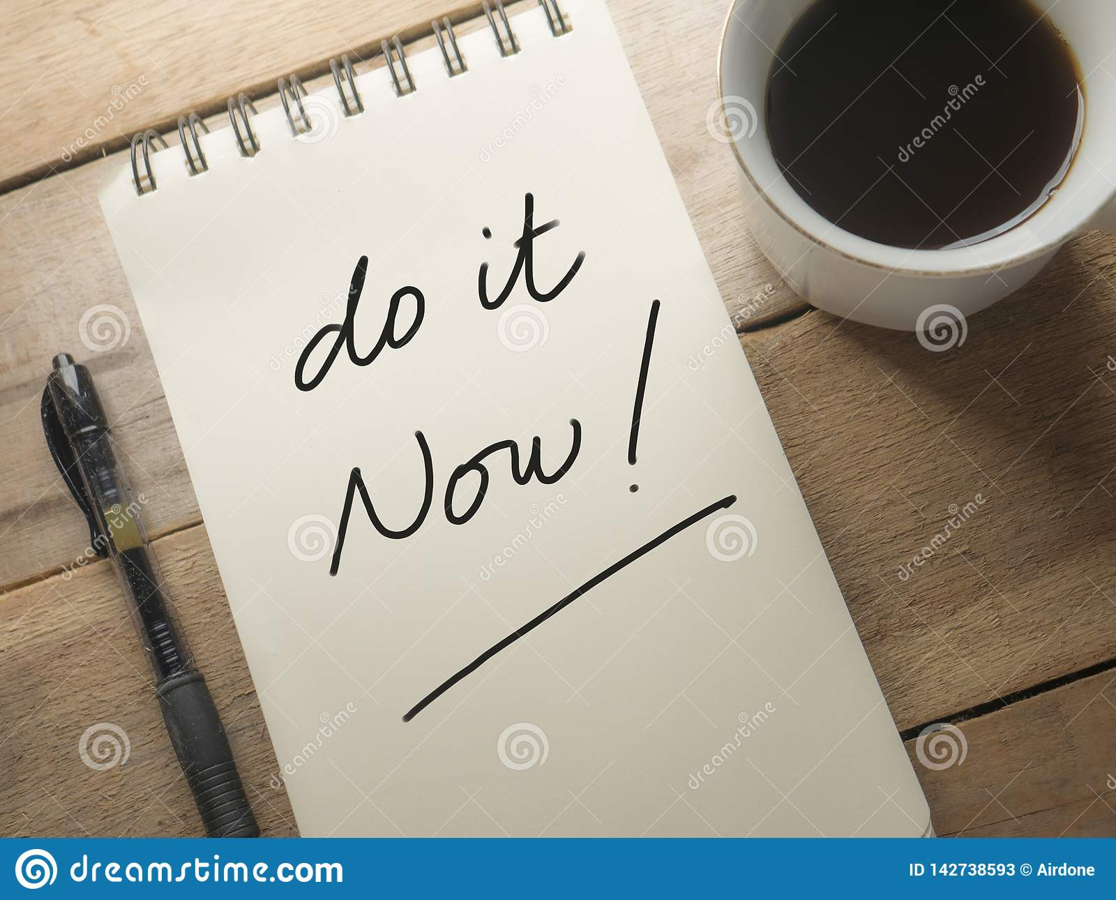 do it now motivational inspirational quotes stock image image