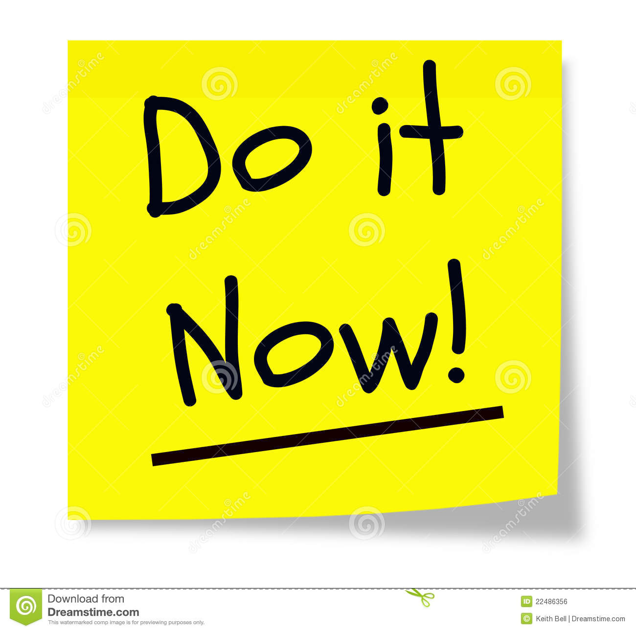 Do It Now Sticky Pad Royalty Free Stock Image Image