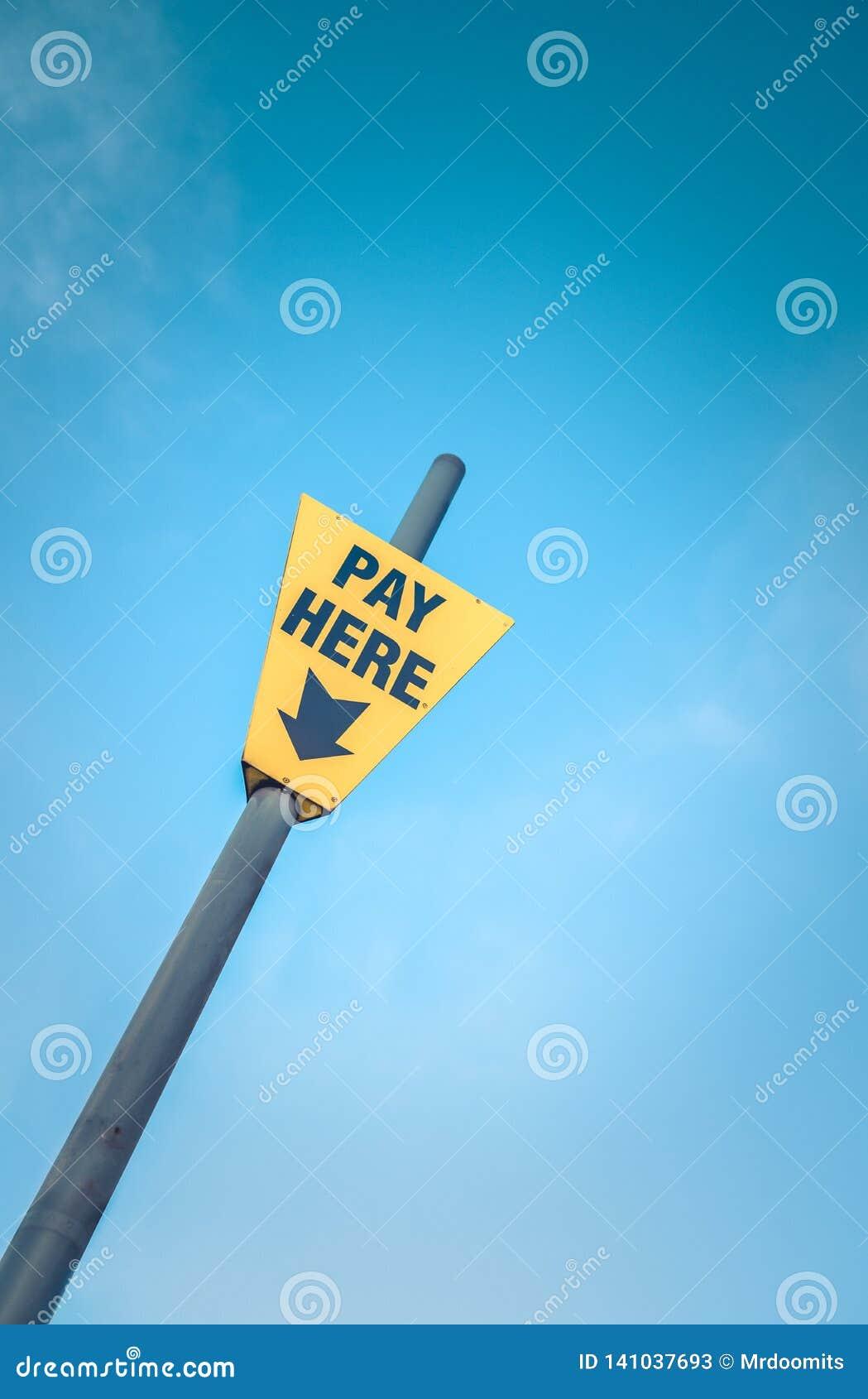 Do pagamento sinal amarelo aqui