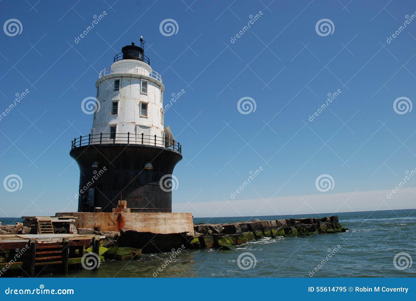Do porto do farol do refúgio, Lewes, Delaware