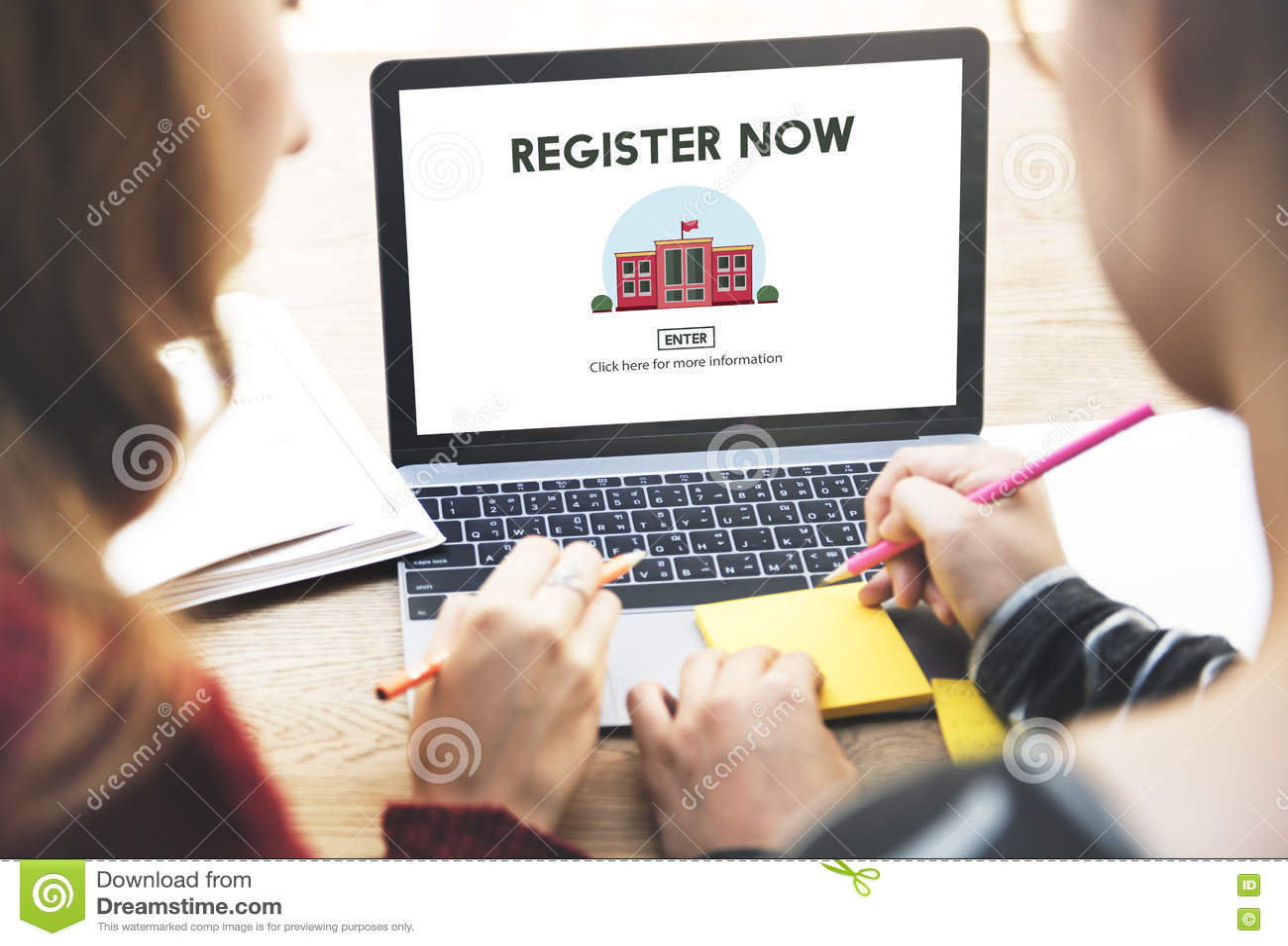 Do registro conceito do Web site da educação do ensino eletrónico agora