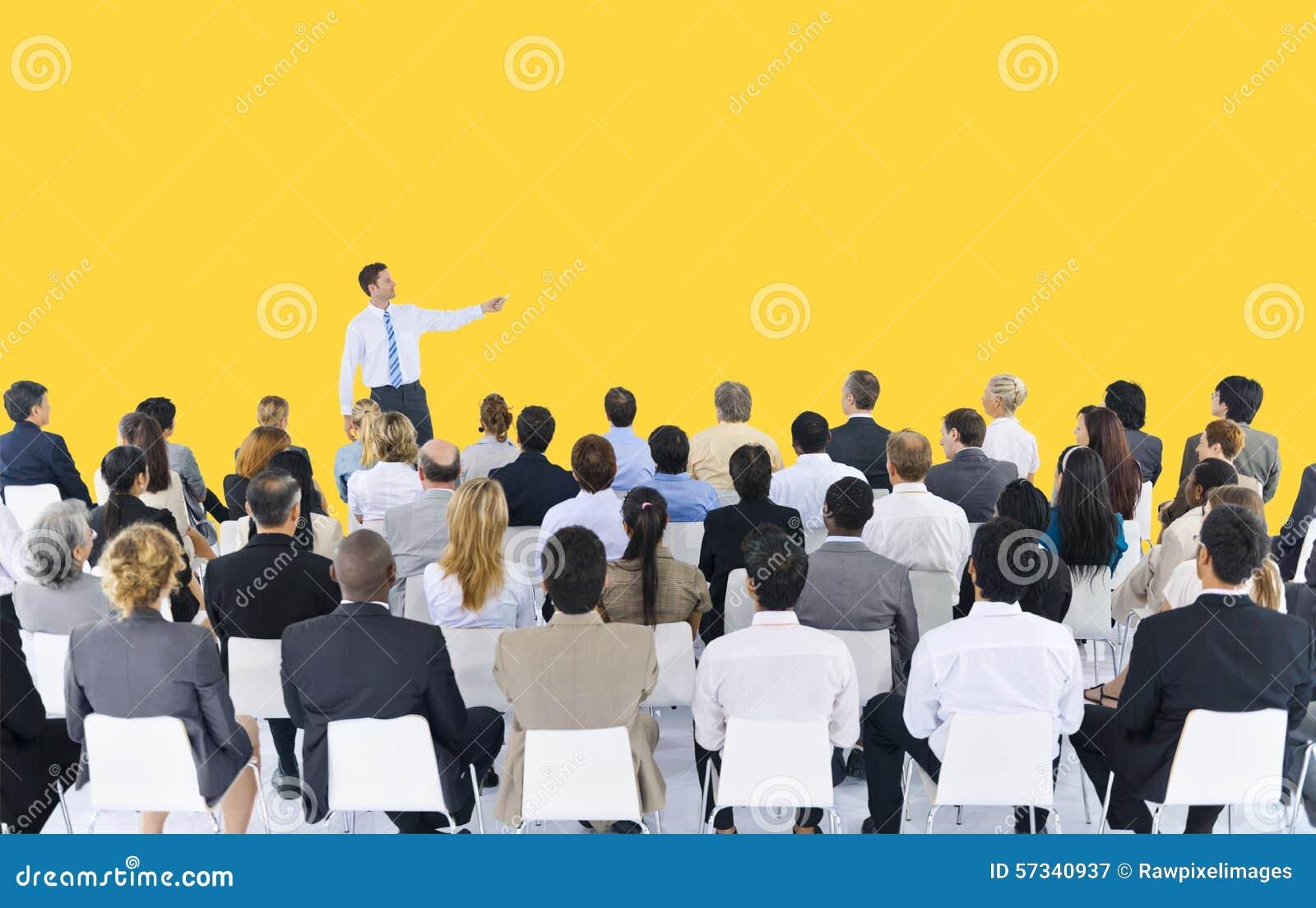 Do seminário da conferência da reunião executivos do conceito da apresentação