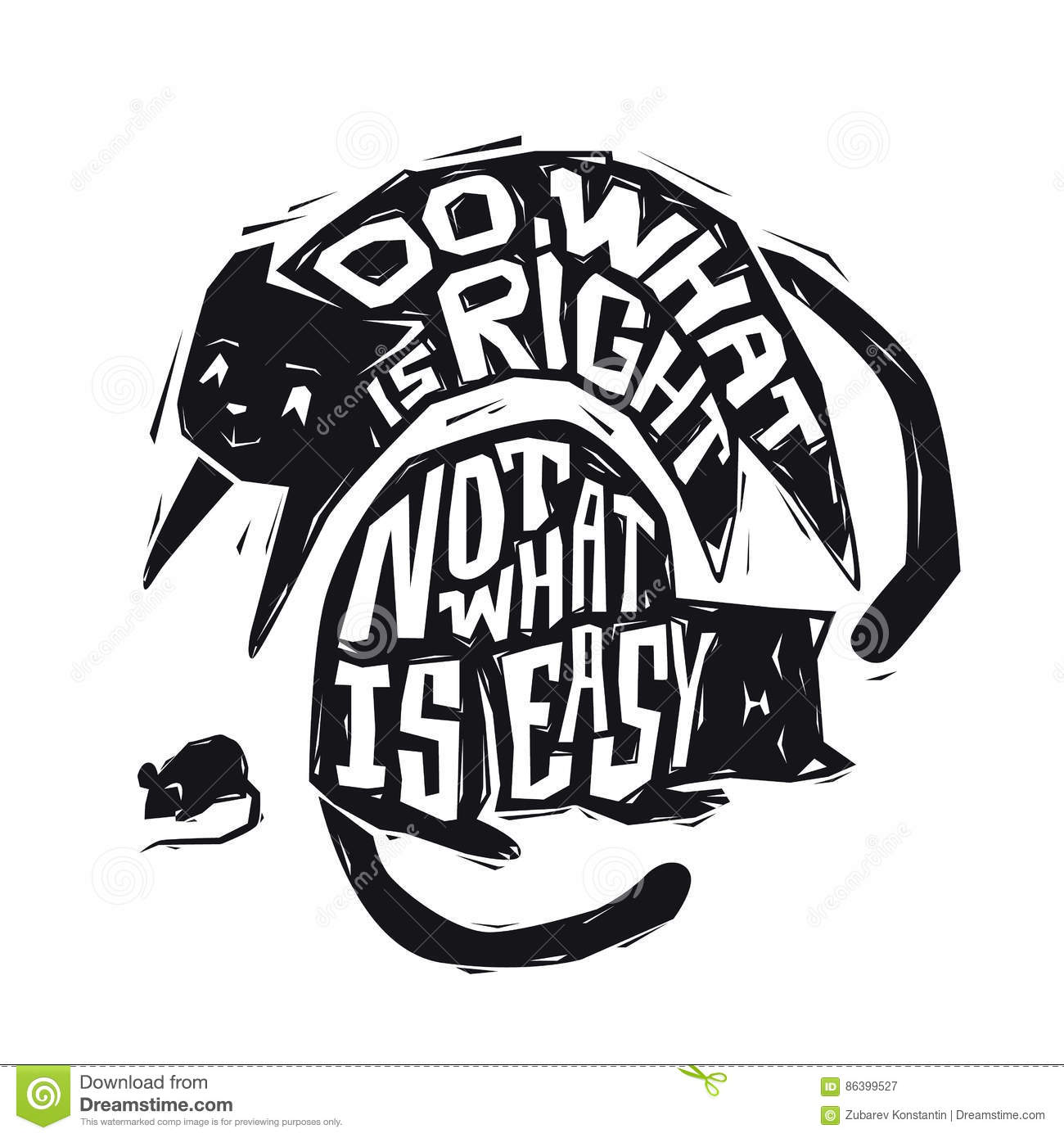 Do What Is Right Not What Is Easy Motivational Phrase Handdrawn