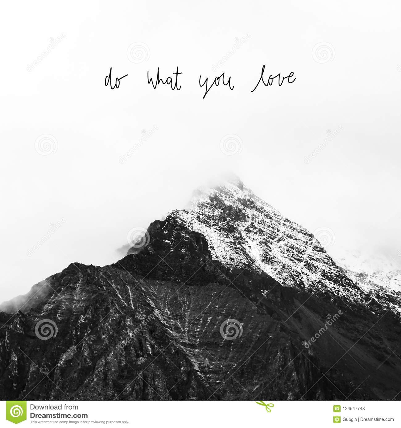 Do What You Love On Snow Mountain In Yading Stock Image Image Of