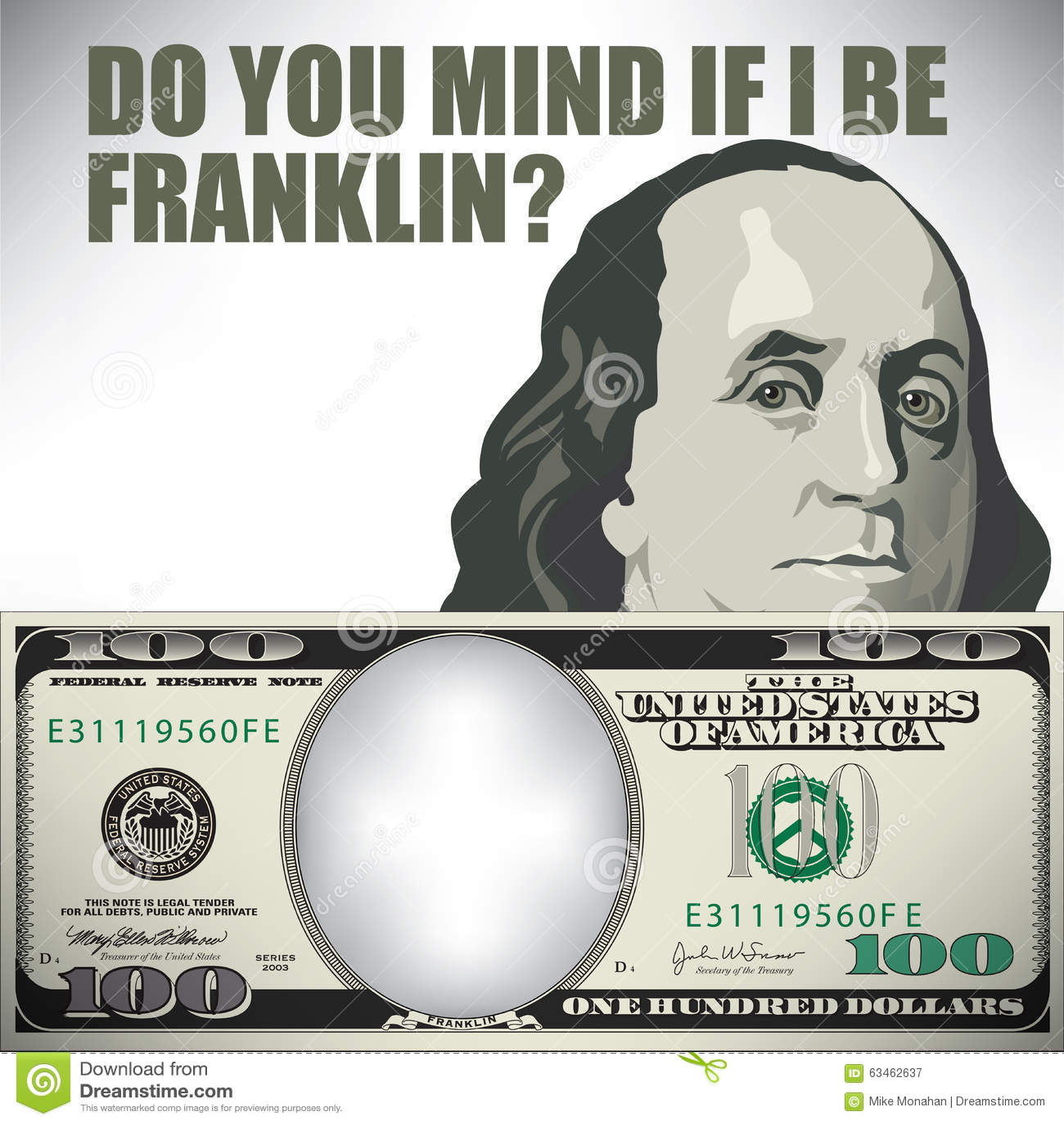 Do you mind if I be Franklin