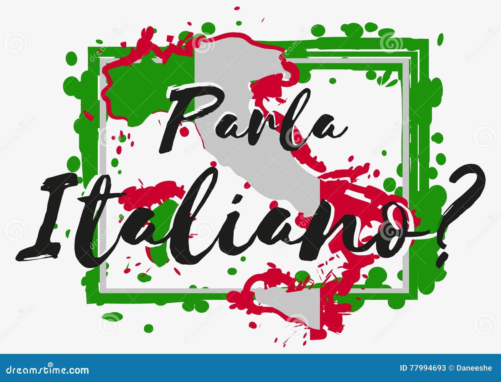 Do You Speak Italian Stock Vector Illustration Of Decal 77994693