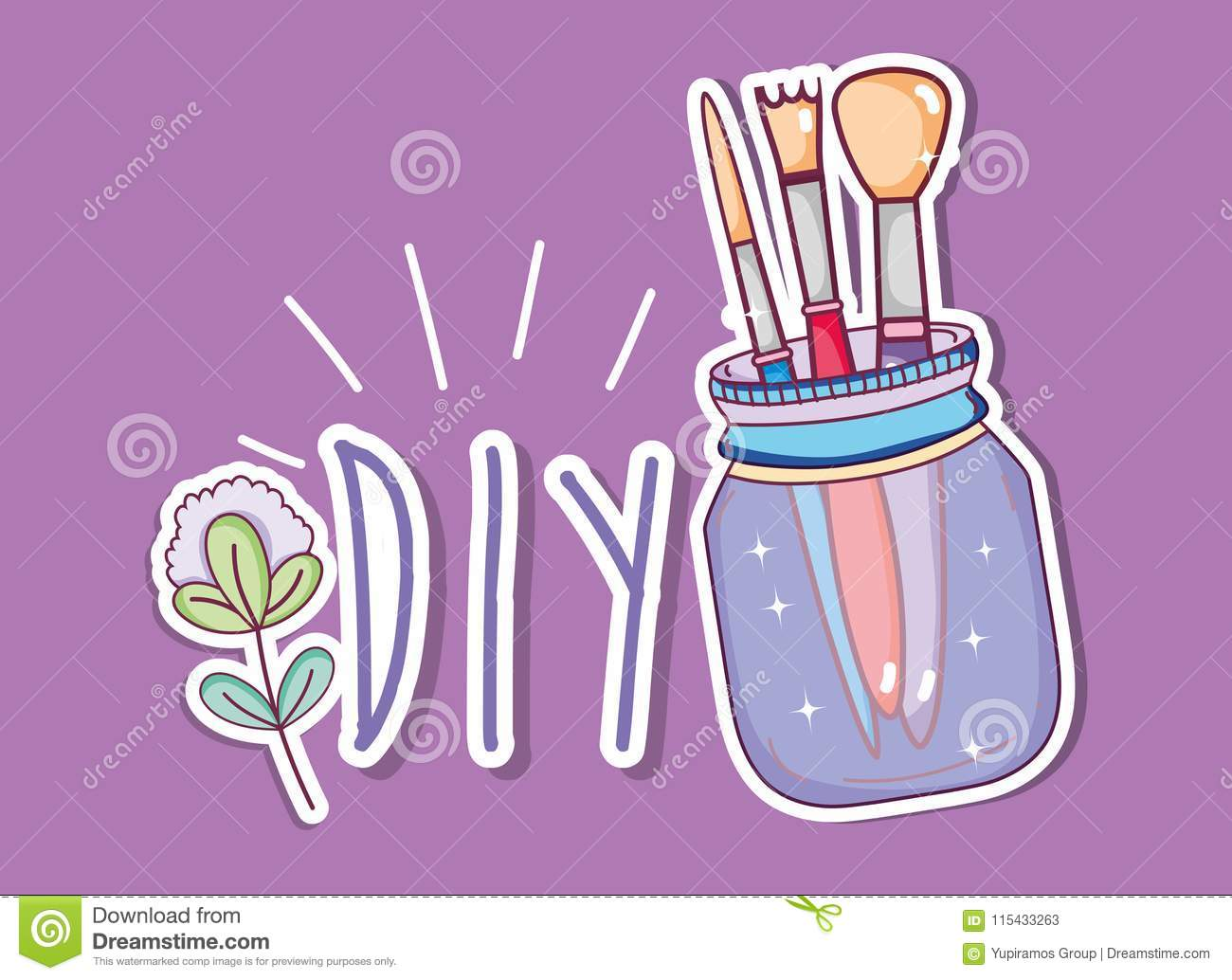 Do it yourself crafts concept stock vector illustration of summer download do it yourself crafts concept stock vector illustration of summer jars 115433263 solutioingenieria Choice Image