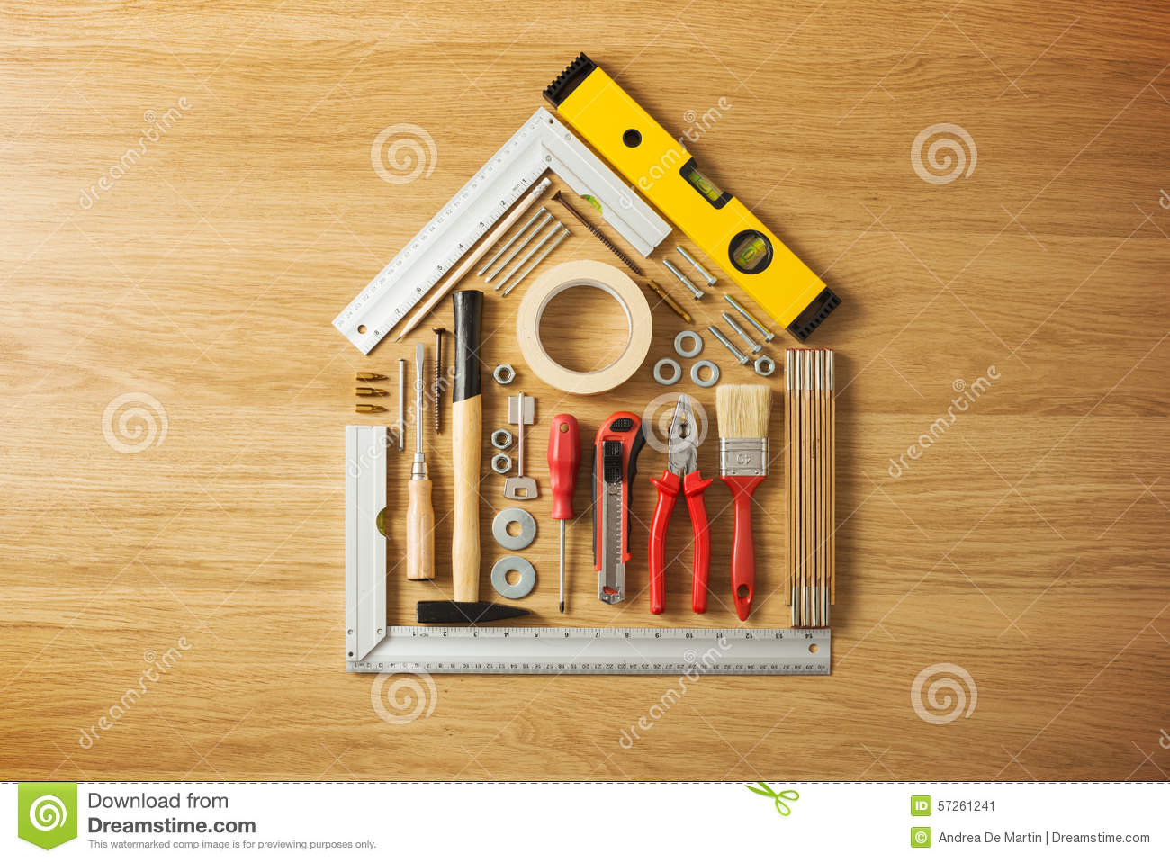 Do it yourself and home renovation tools. Do It Yourself And Home Renovation Tools Stock Photo   Image  57261241
