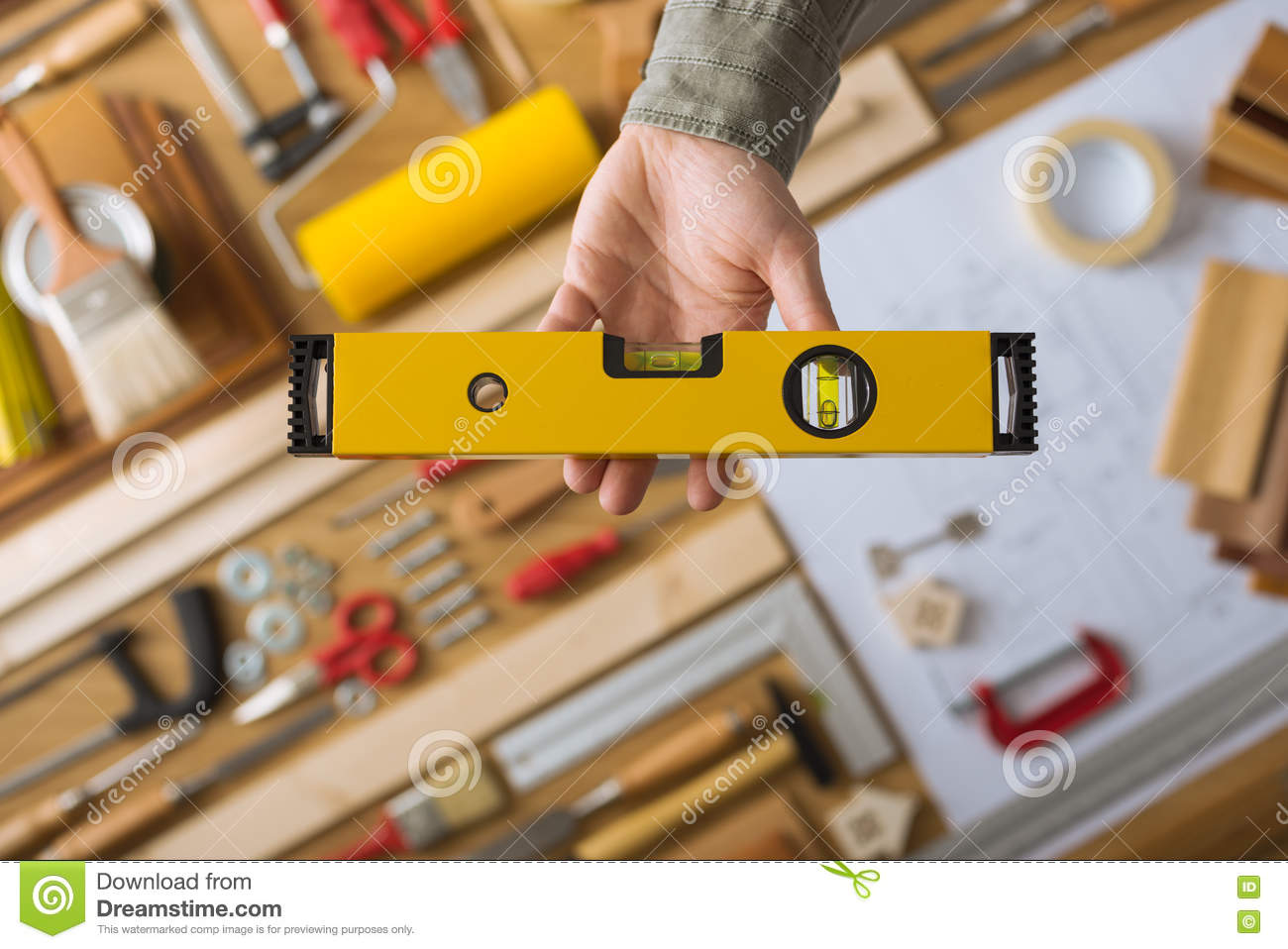 Do it yourself and home renovation tools. Do It Yourself And Home Renovation Tools Stock Photo   Image  72622251