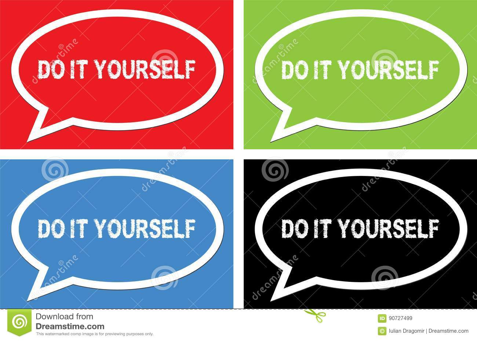 Do it yourself text on ellipse speech bubble sign stock do it yourself text on ellipse speech bubble sign solutioingenieria Choice Image