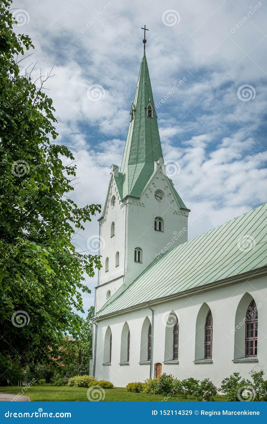 Dobele Ewangelicki Luterański kościół w miasto parku