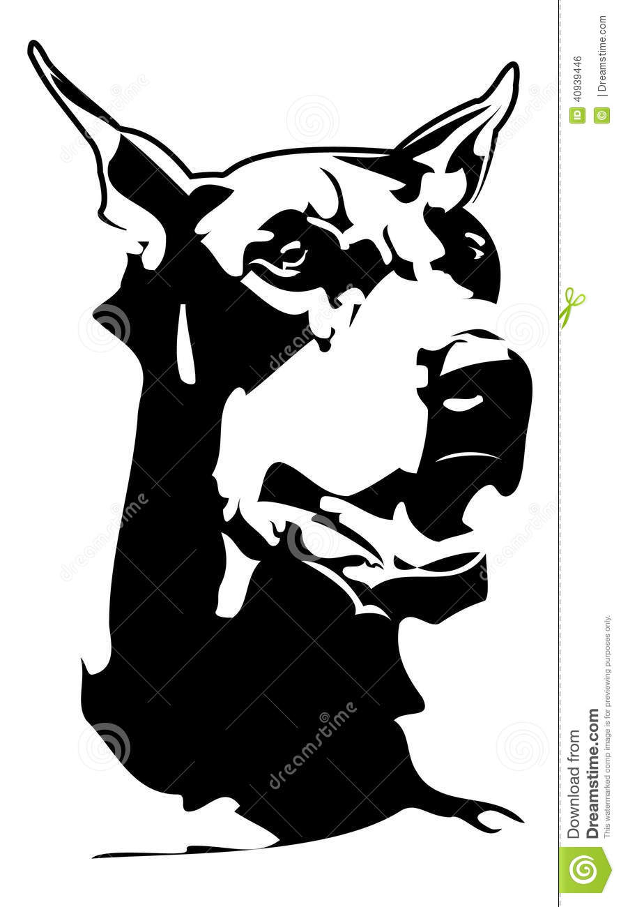 doberman royalty free vector