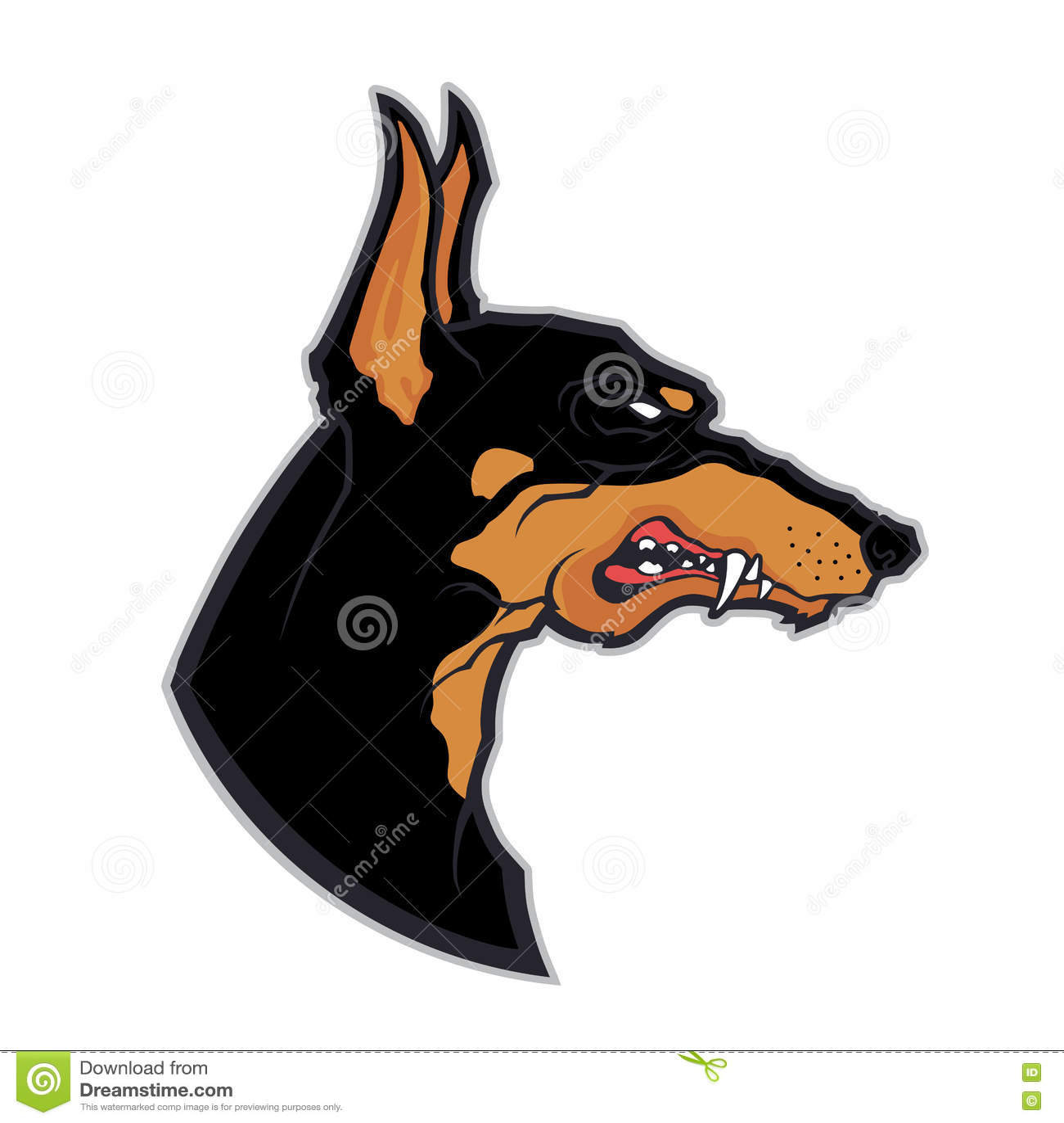 Doberman cartoon character