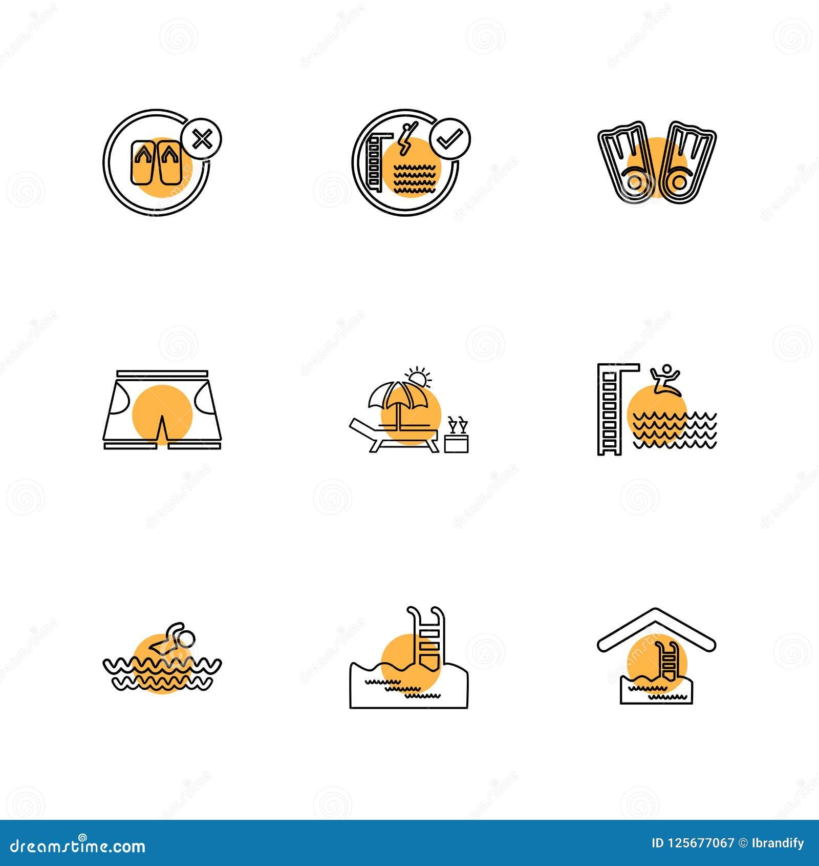 Dobrador, arquivos, verão, praia, piquenique, bebidas, ícones do eps ajustados