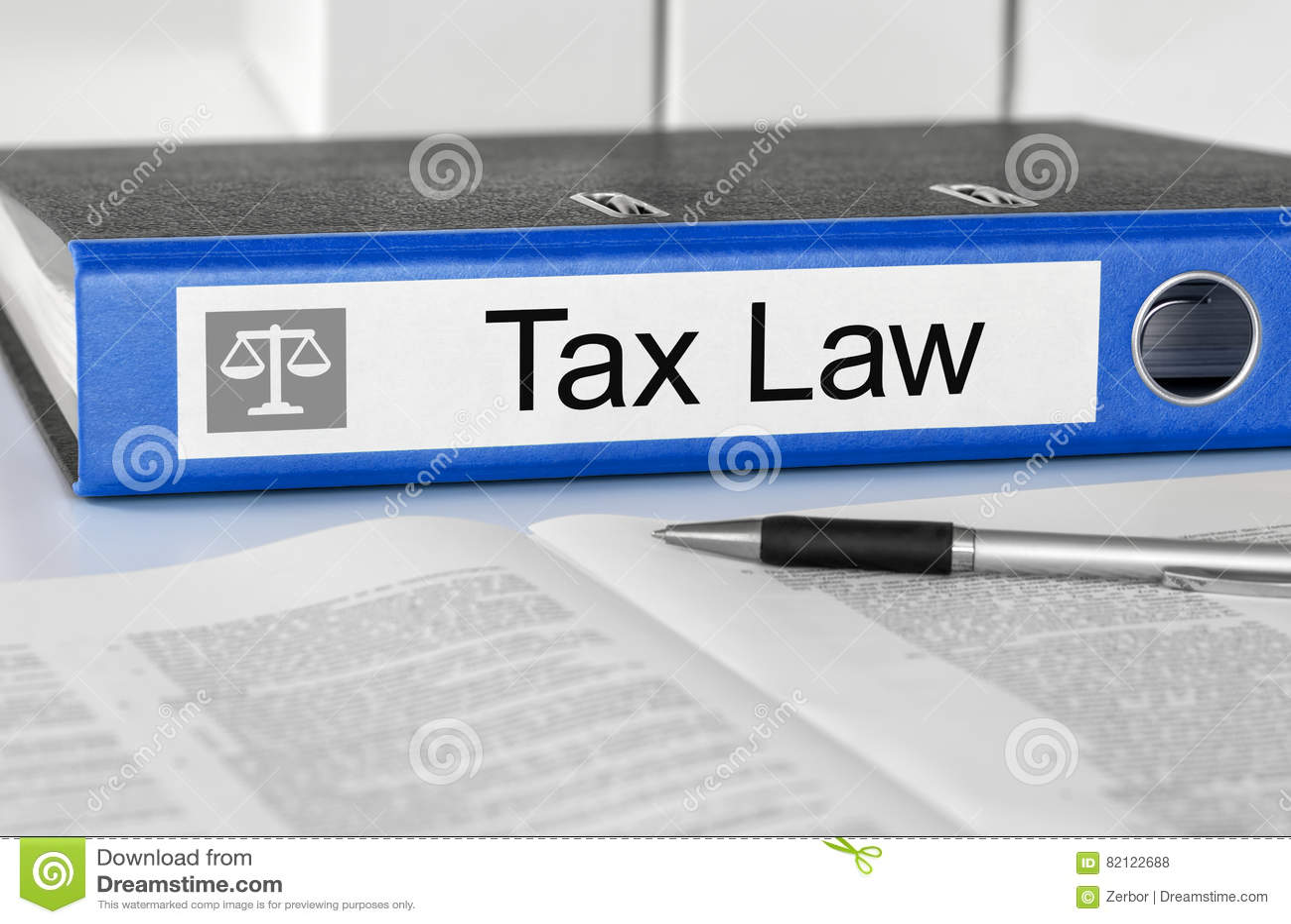 Dobrador com a lei fiscal da etiqueta