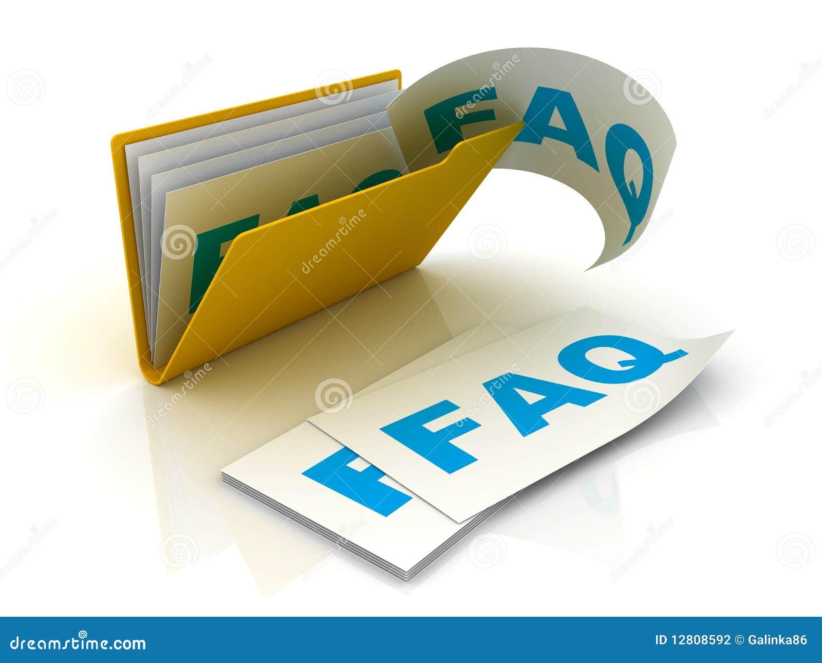 Dobrador com papéis do FAQ