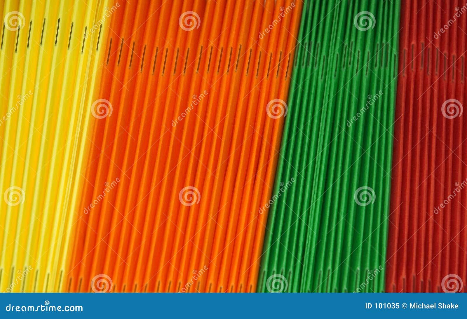 Dobradores coloridos