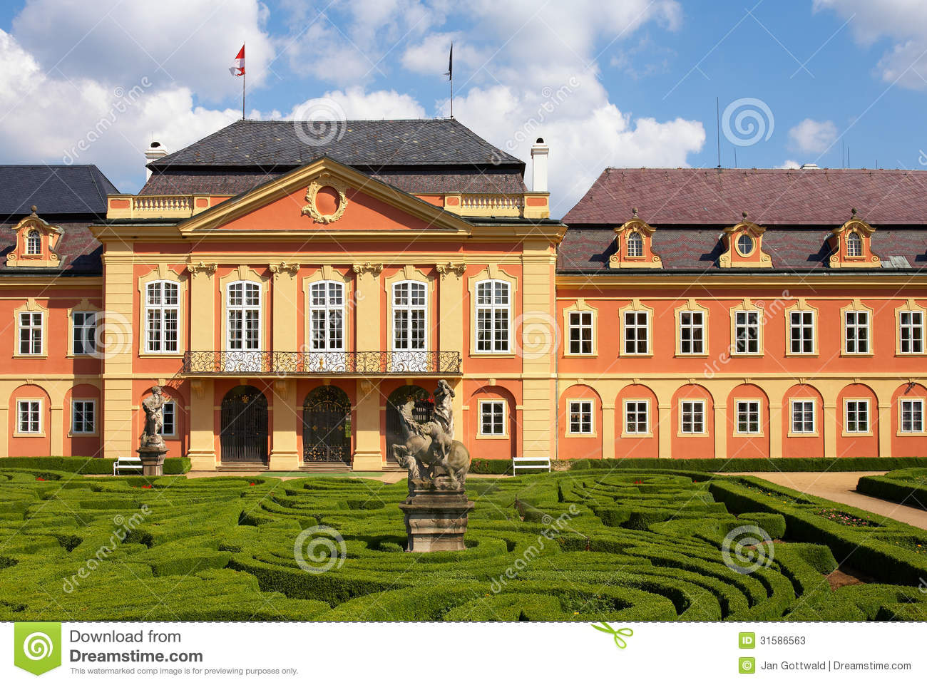 Dobris chateau stock image  Image of architecture, plant