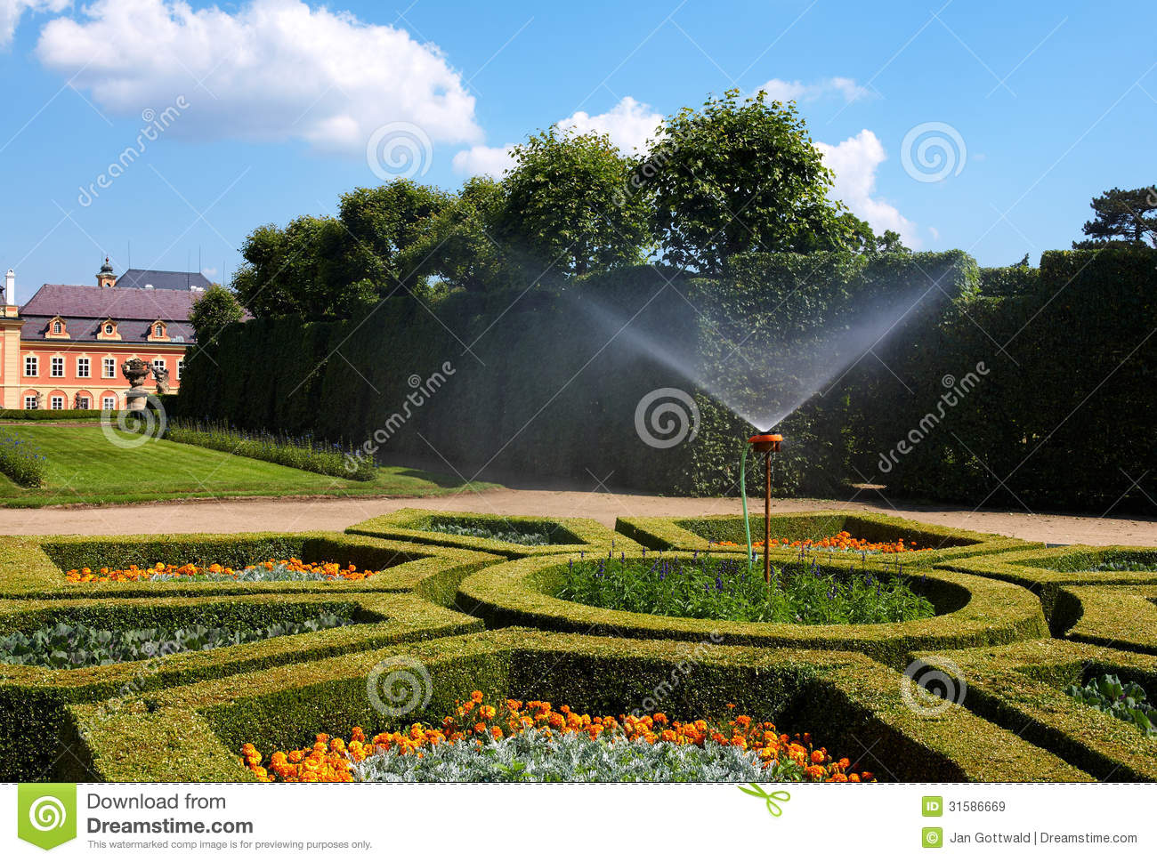 Dobris chateau stock image  Image of manor, cloud, rococo