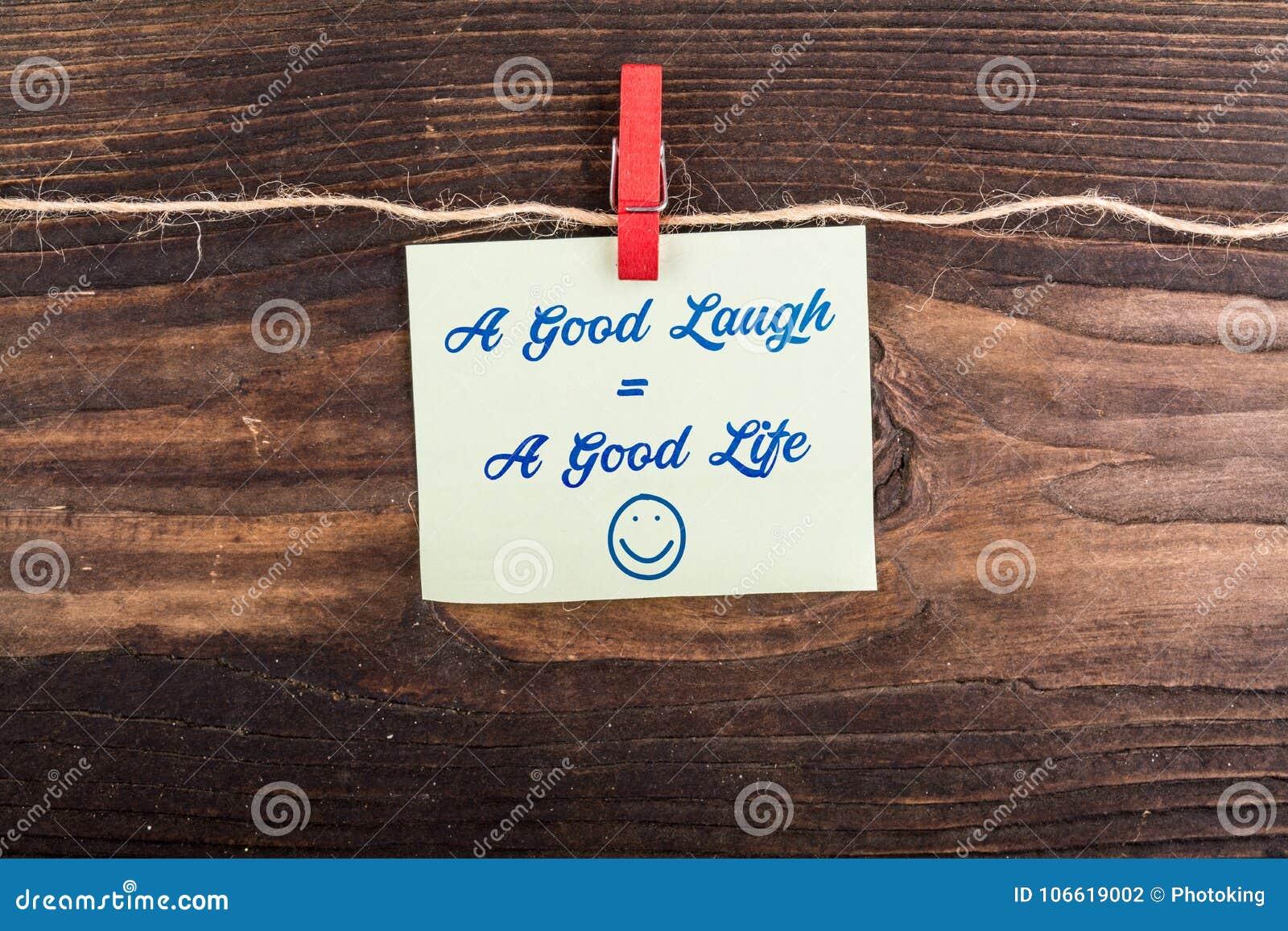 Dobry śmiechu równy dobre życie