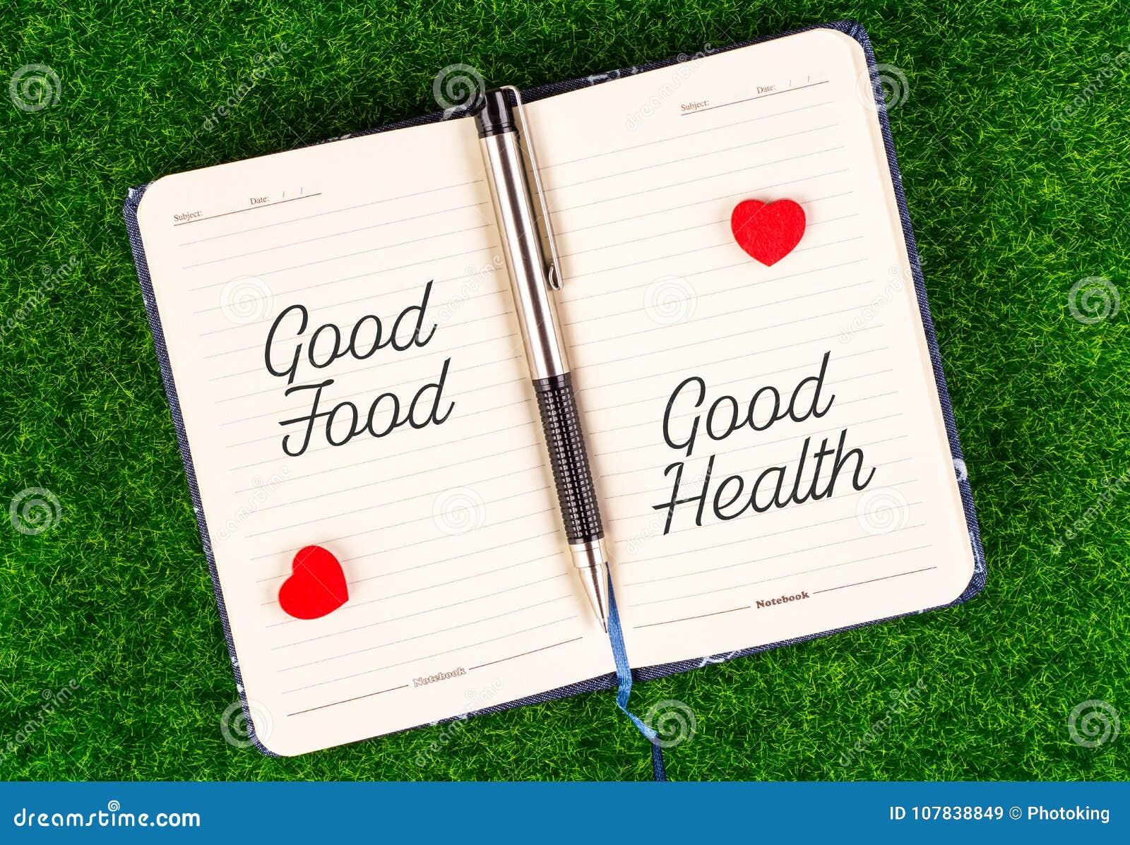 Dobrzy jedzenie równy dobre zdrowie
