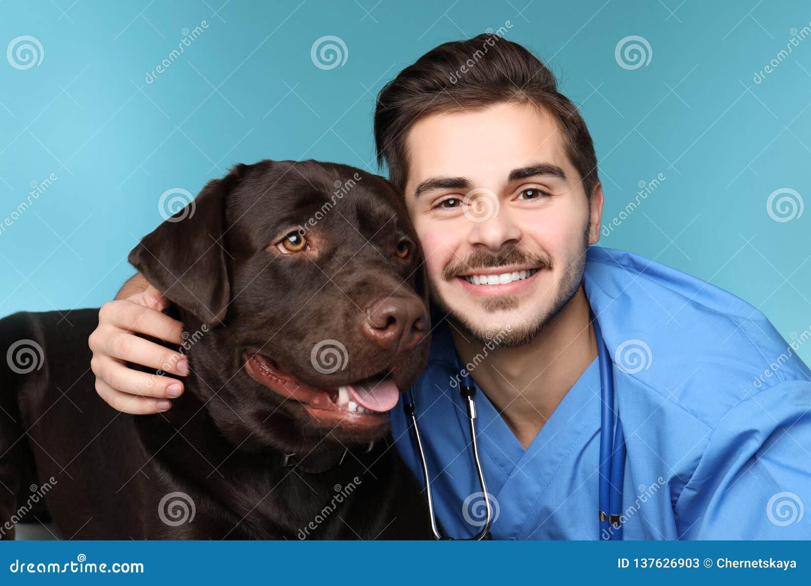 Doc. de vétérinaire avec le chien
