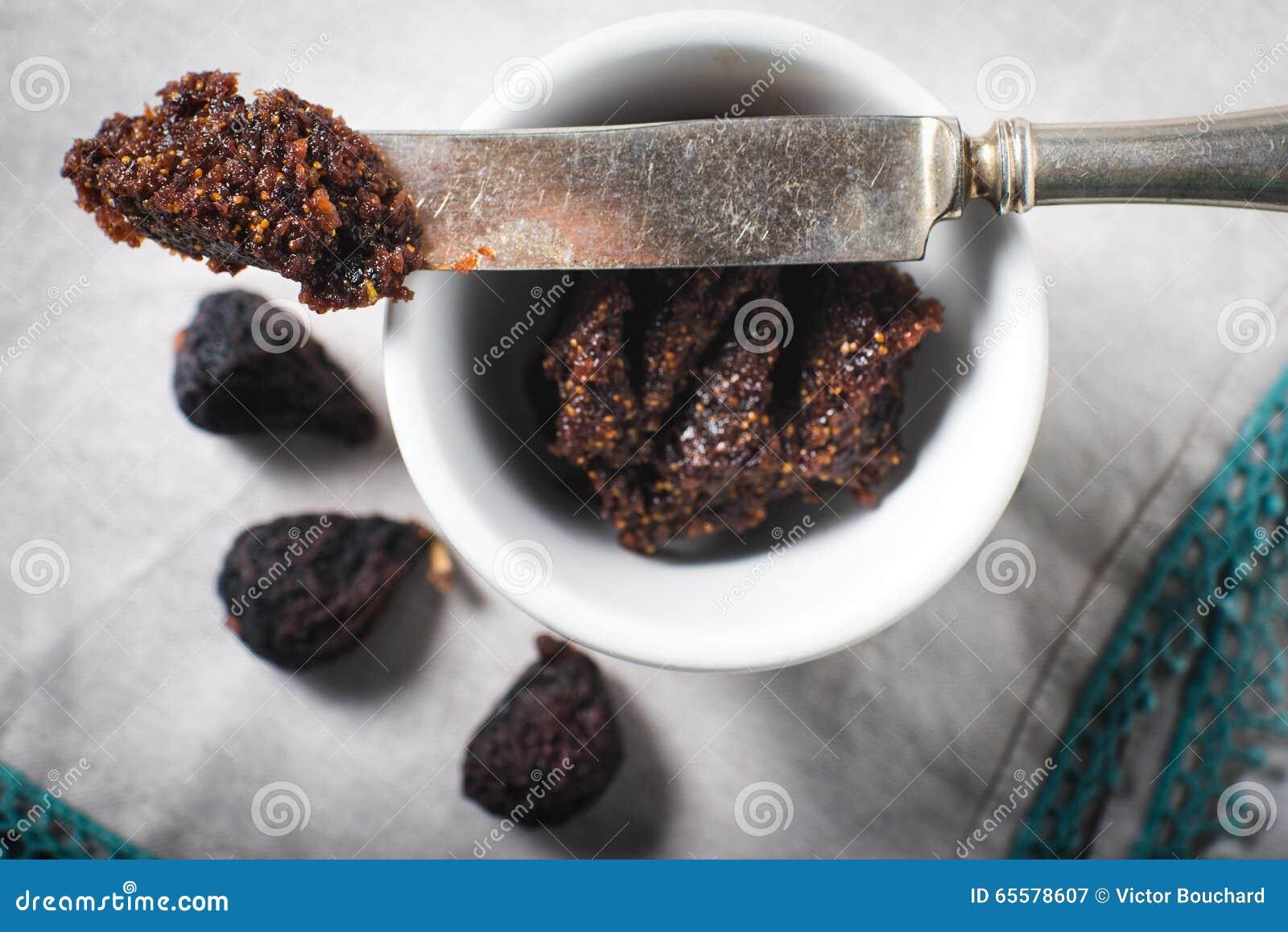 Doce secado da sobremesa da propagação do figo