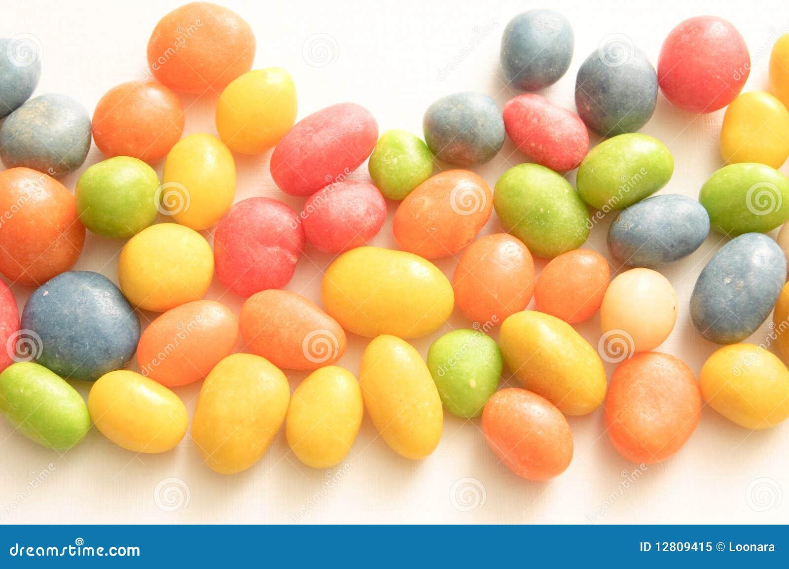 Doces coloridos