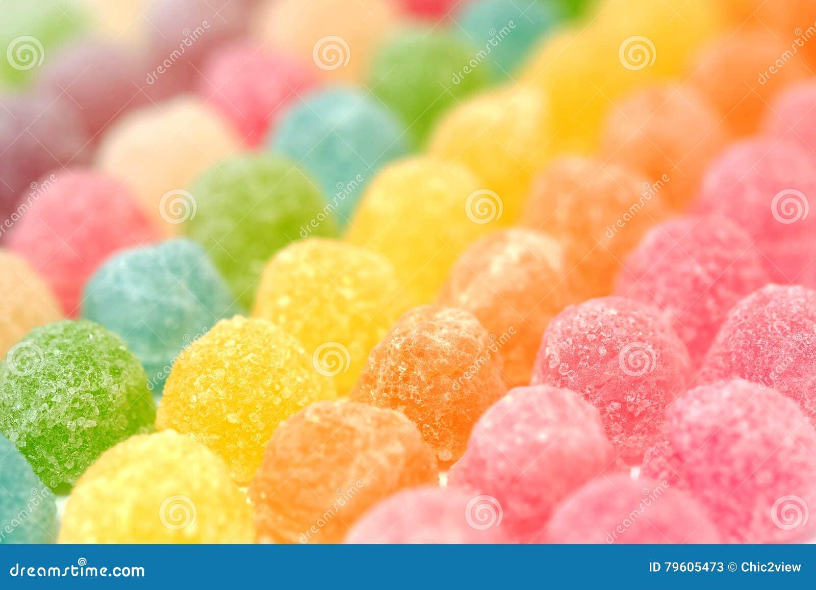 Doces coloridos da geleia de fruto
