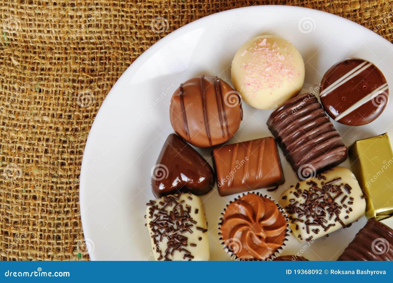 Doces do chocolate