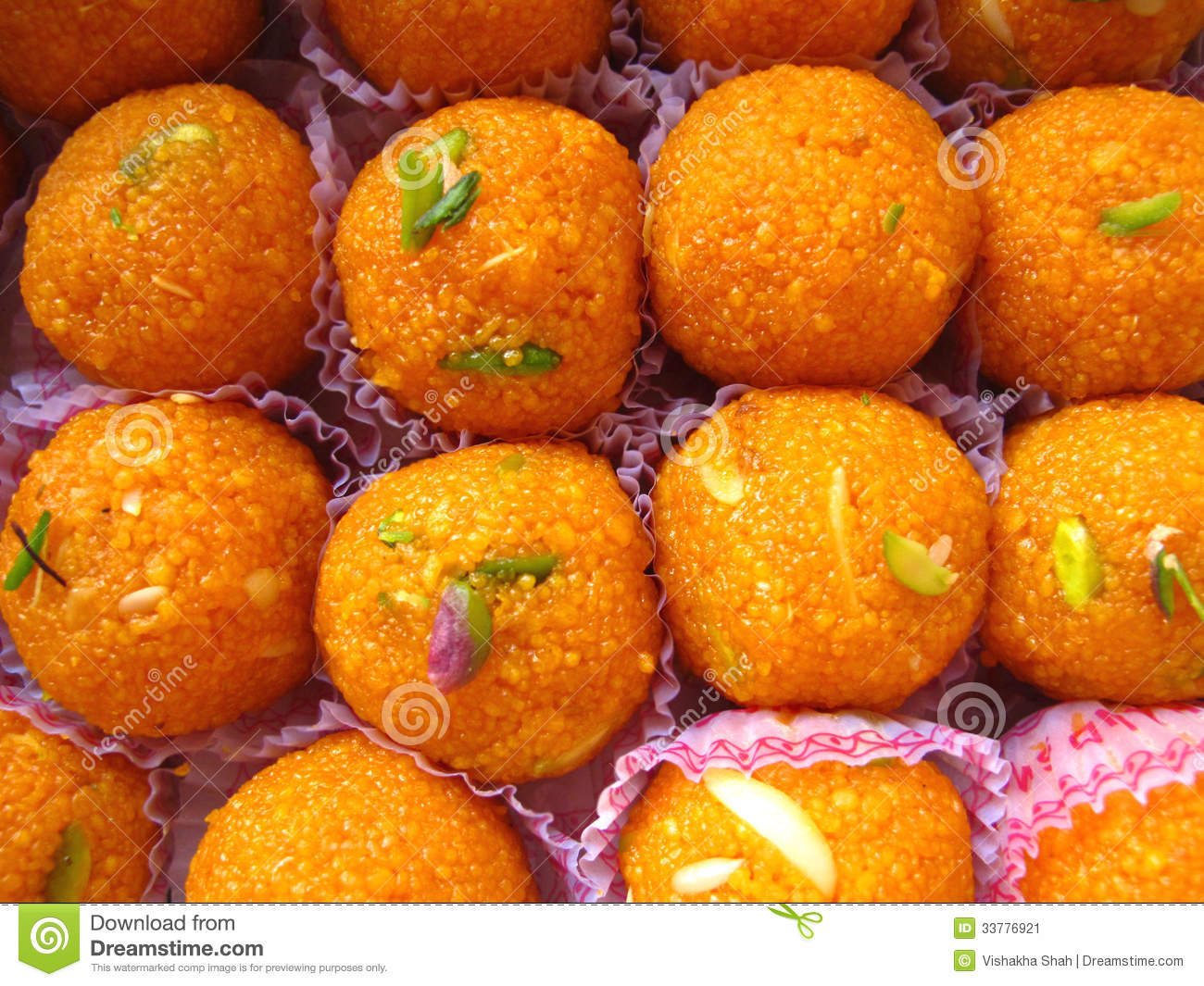 Doces indianos - Boondi Laddoo