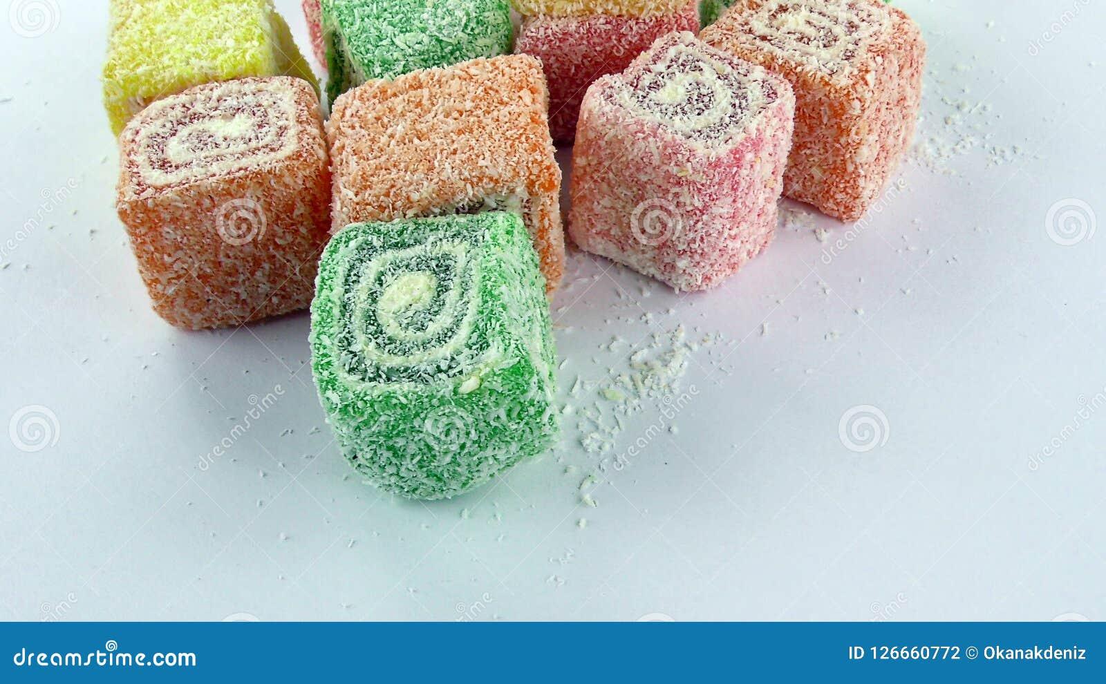 Doces Jelly Lolly doce e Sugar Dessert delicioso