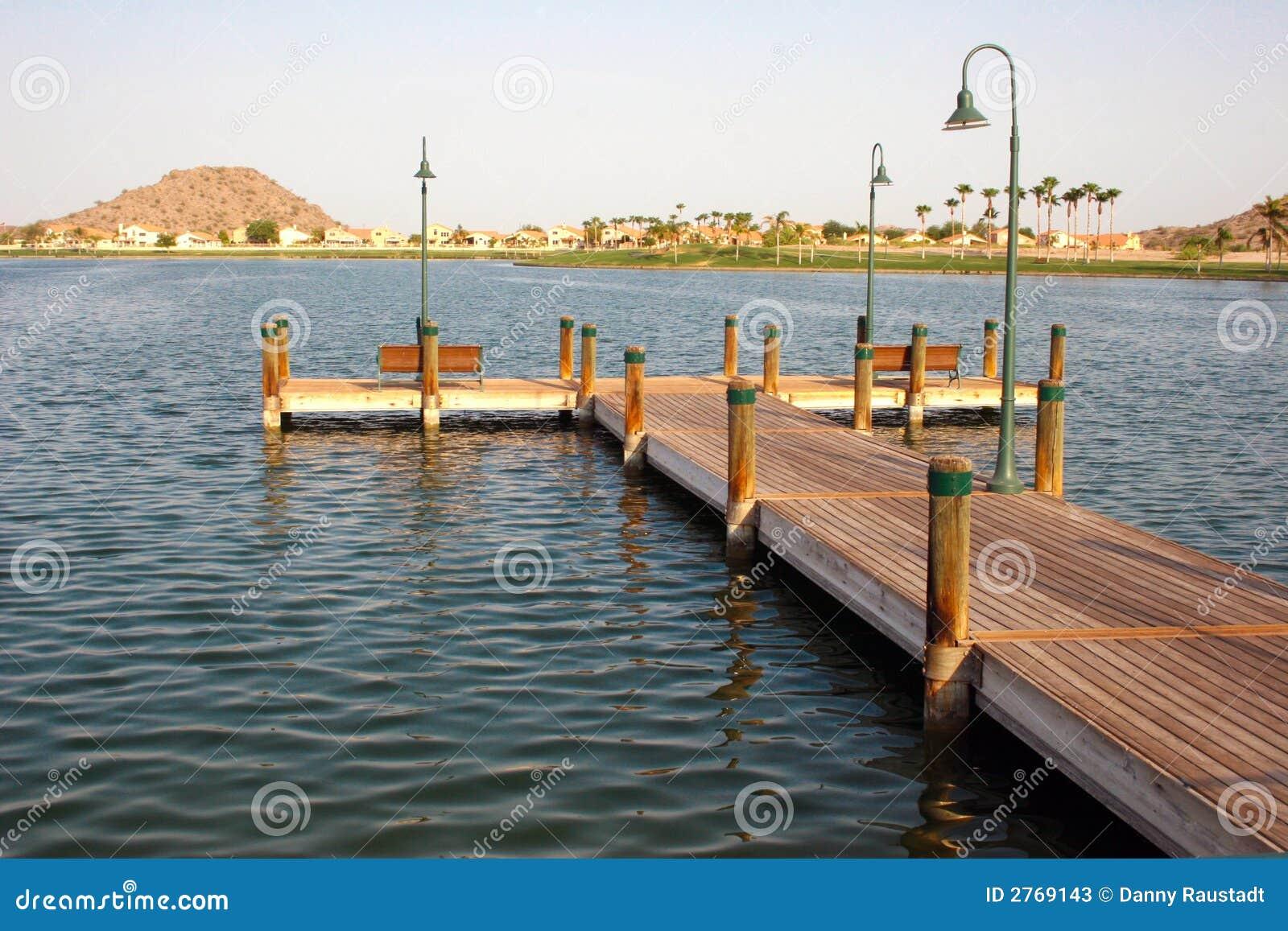 Dock in the arizona desert stock photos image 2769143 for Fishing in phoenix arizona