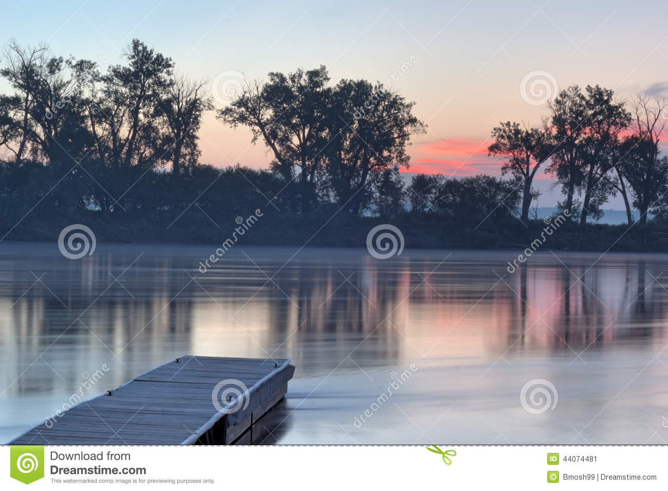 Dock On The Missouri River Stock Image Image Of Steam 44074481