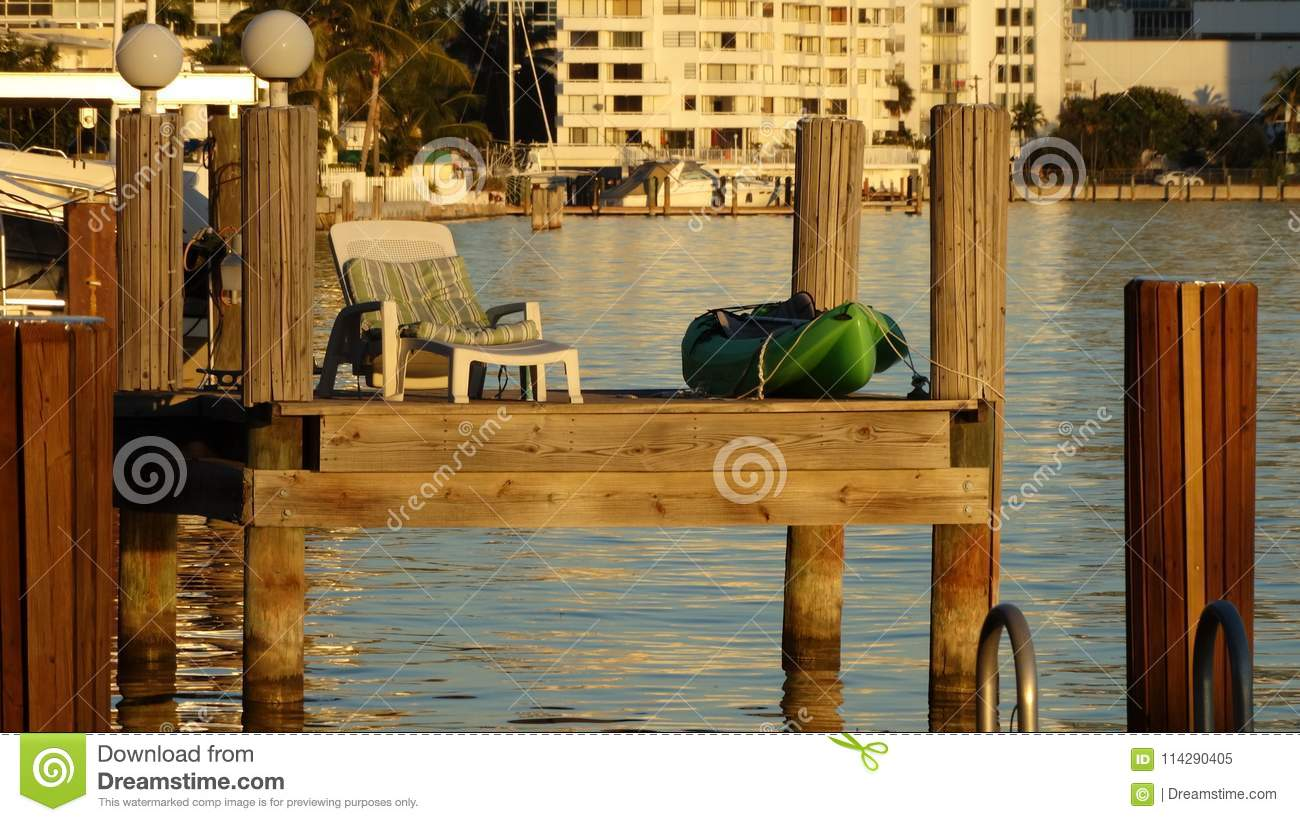 Dock To Rest And Drink A Rich Sunbath At Sunset Stock Image ...