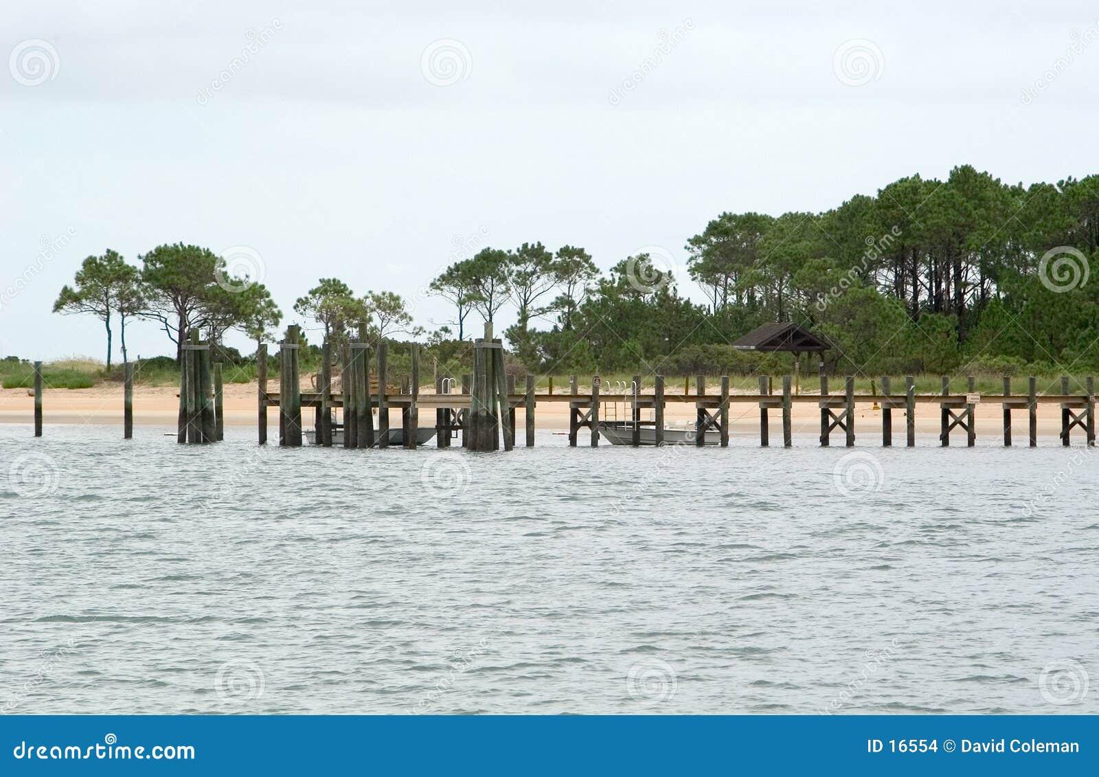 Dock am Umhang-Ausblick