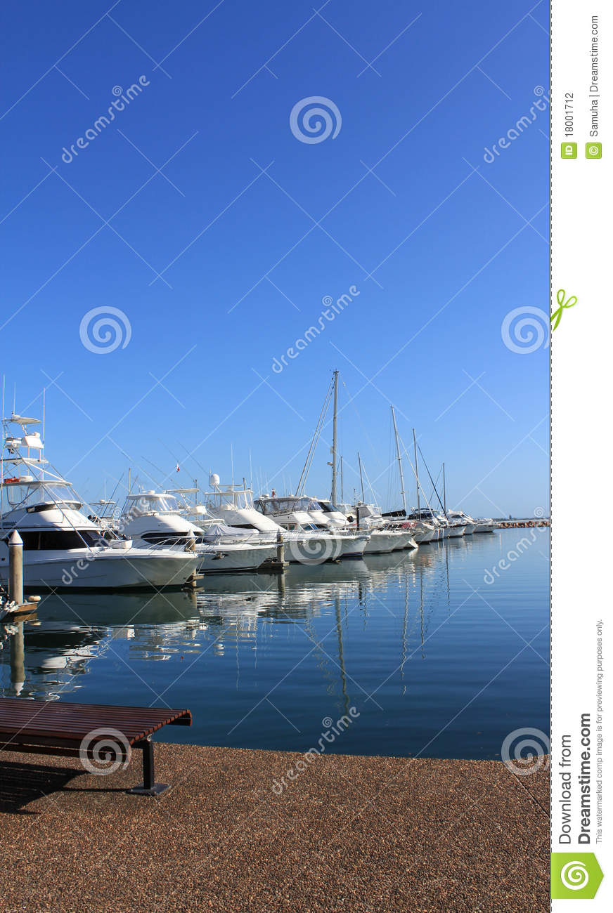 Docked Boats and yachts