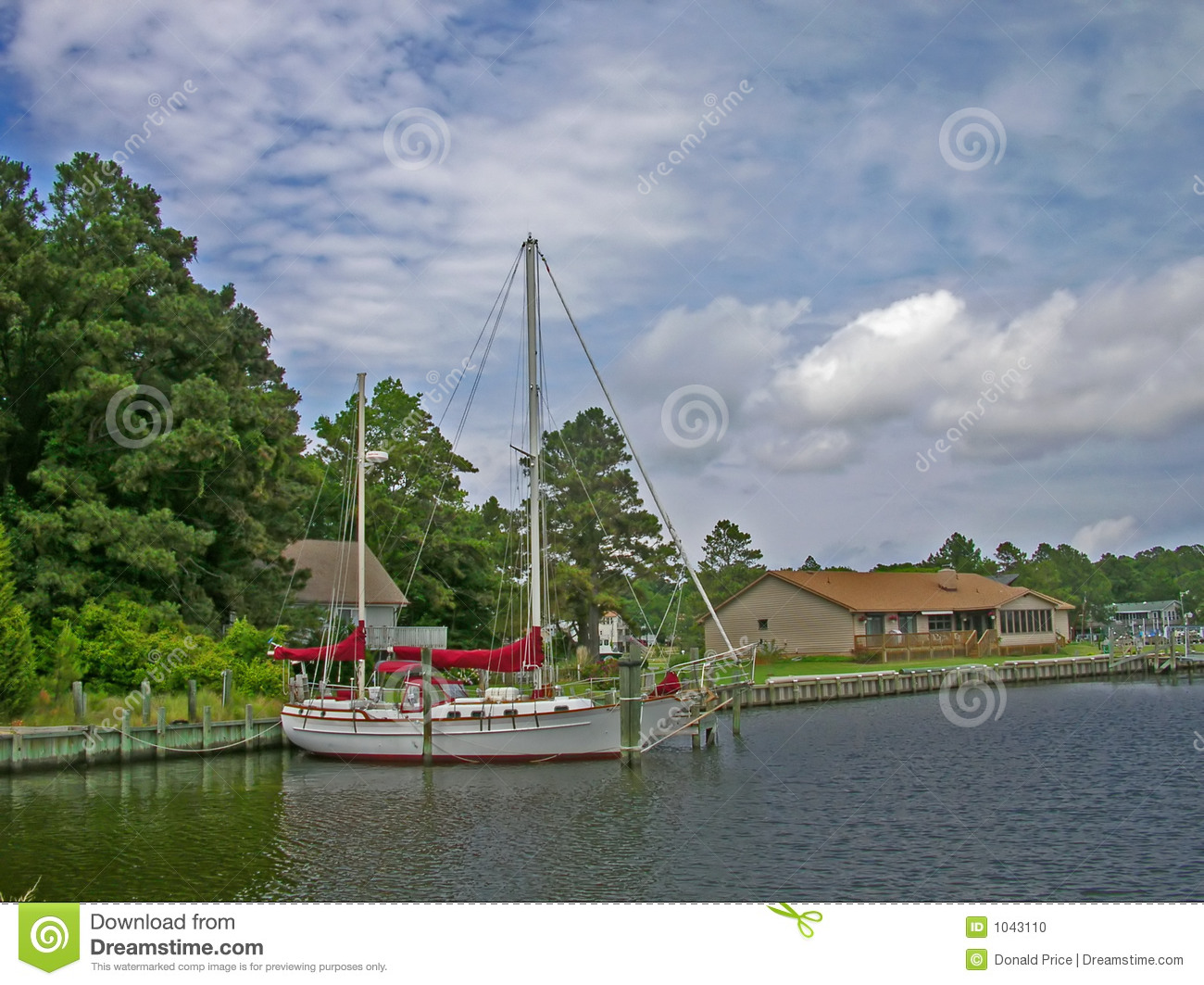 Download Docked Sailboat stock photo. Image of weather, harbour - 1043110
