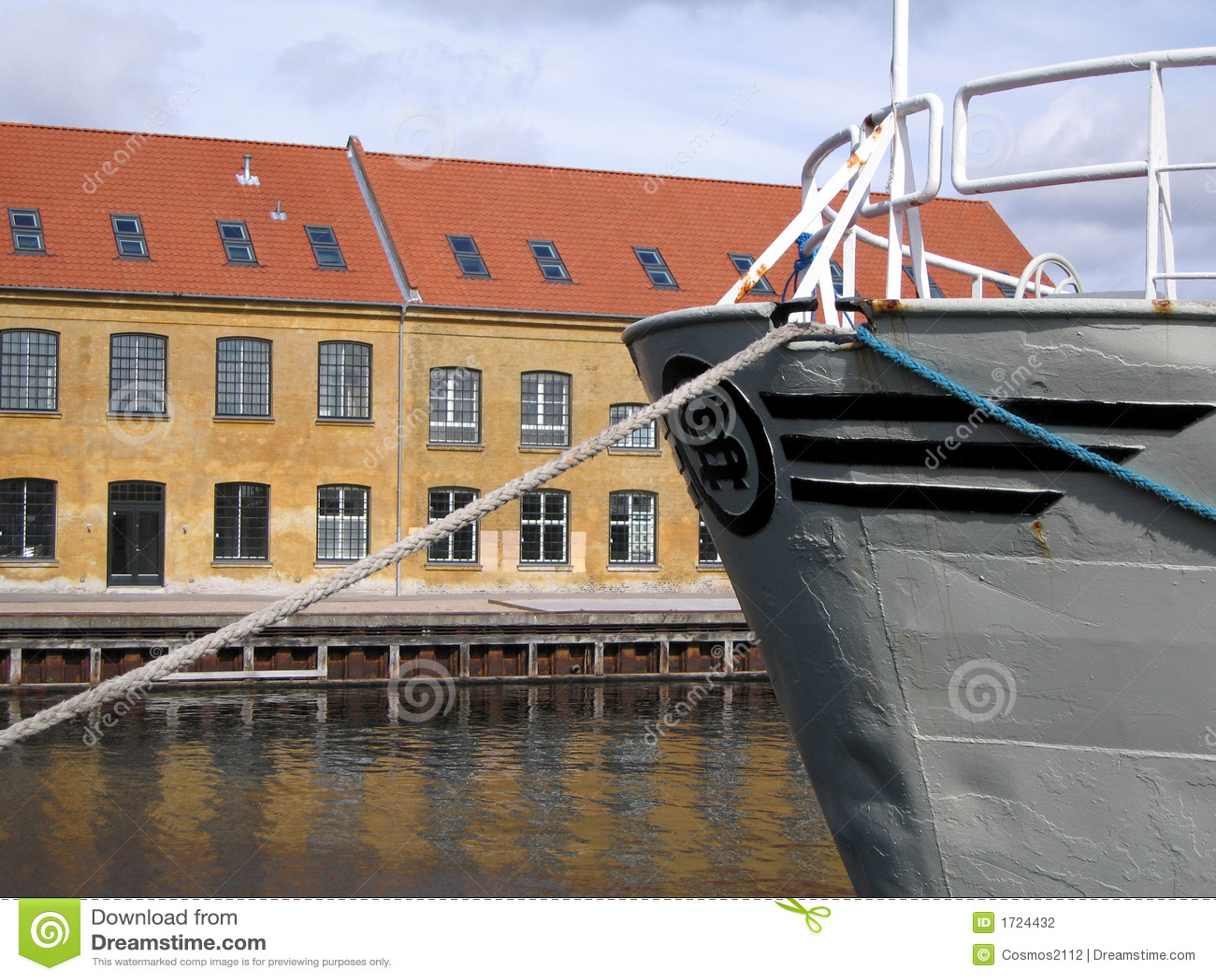 Docked Ship and Warehouse