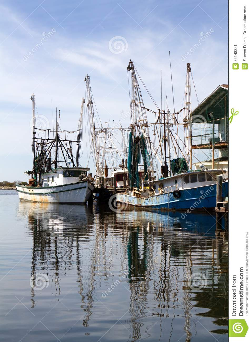 Shrimp Boat Clip Art Docked shrimp boats
