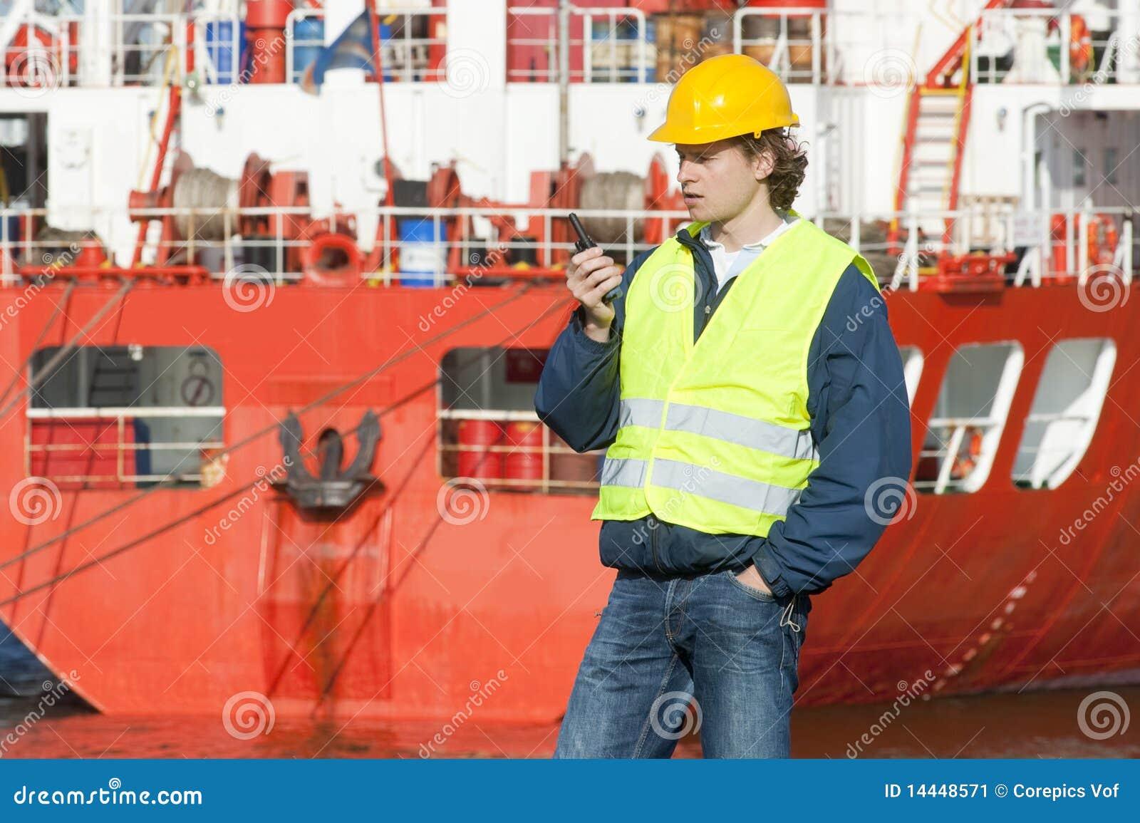 Download Docker stock image. Image of safety, bright, ship, vest - 14448571
