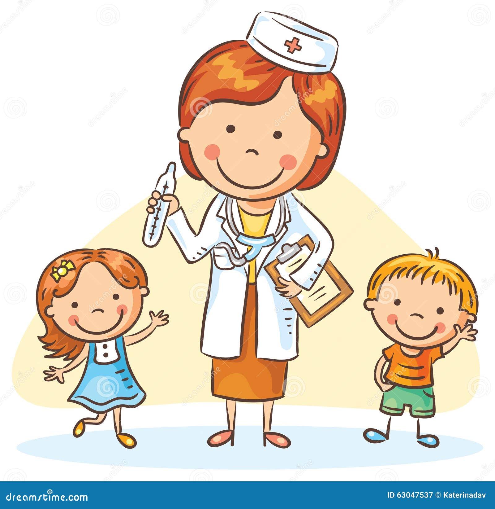 Docteur De Bande Dessin 233 E Avec De Petits Enfants Gar 231 On