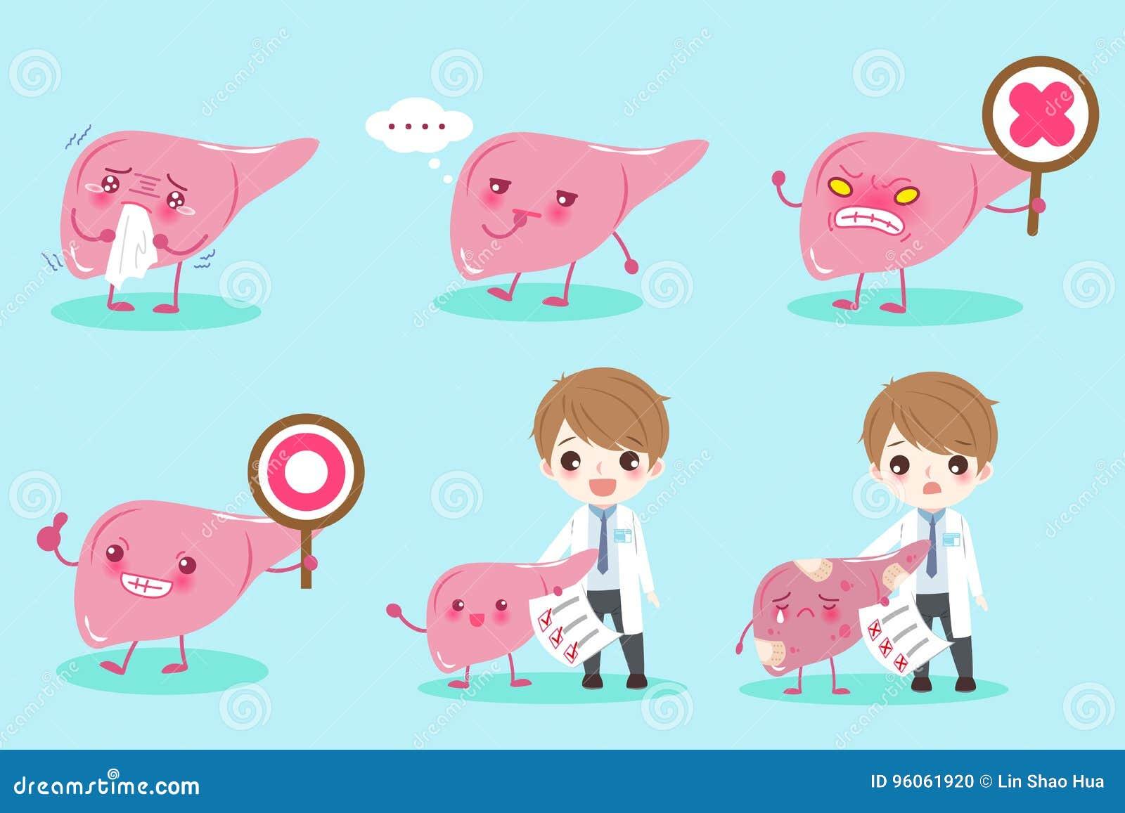 Docteur de bande dessinée avec du foie