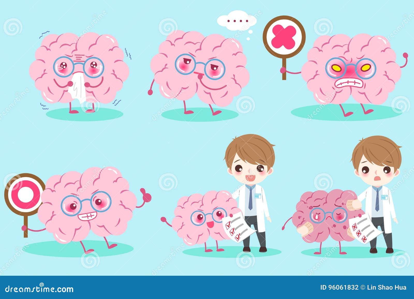 Docteur de bande dessinée avec le cerveau