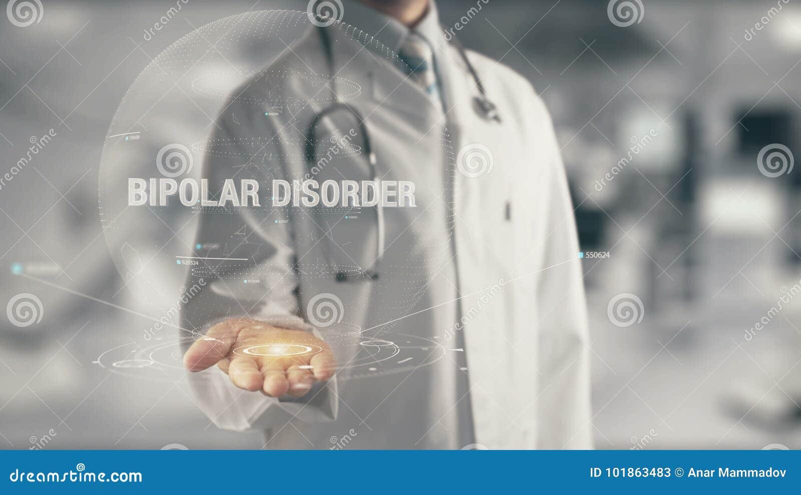 Docteur tenant le trouble bipolaire disponible