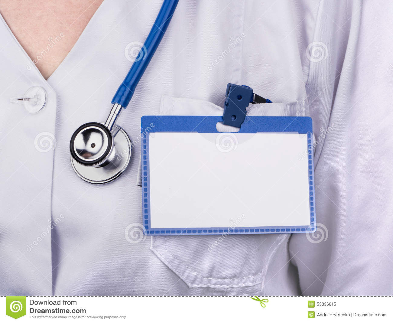 dr name tag template - badge of the doctor stock photography