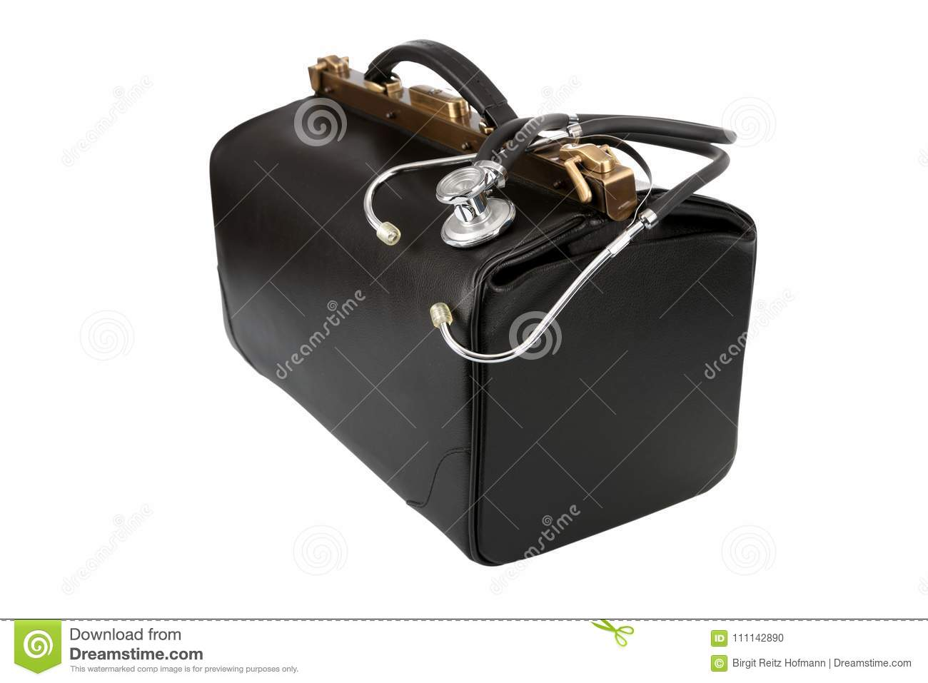 Doctor bag with stethoscope