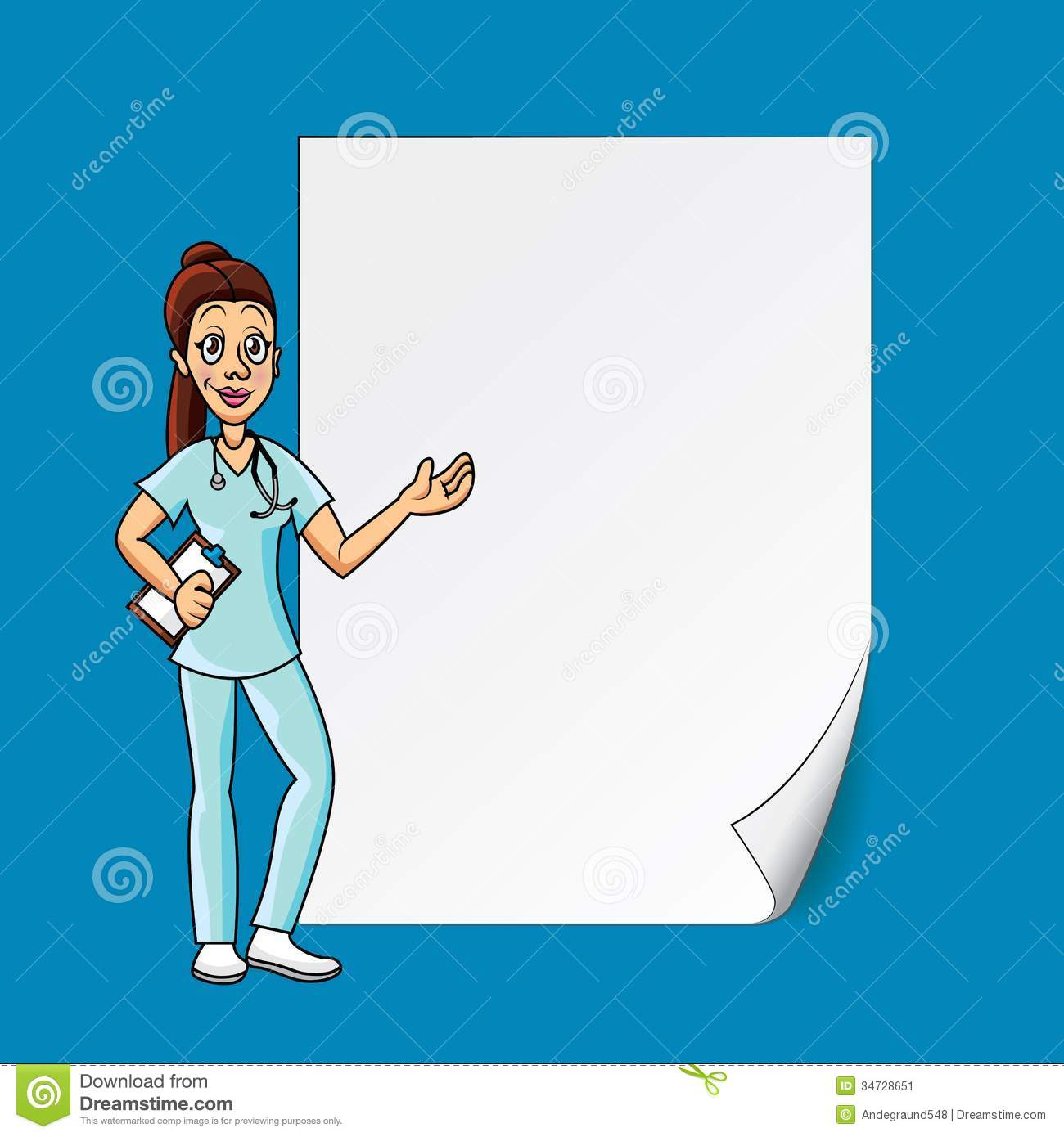 Doctor Background Doctor with blank paper